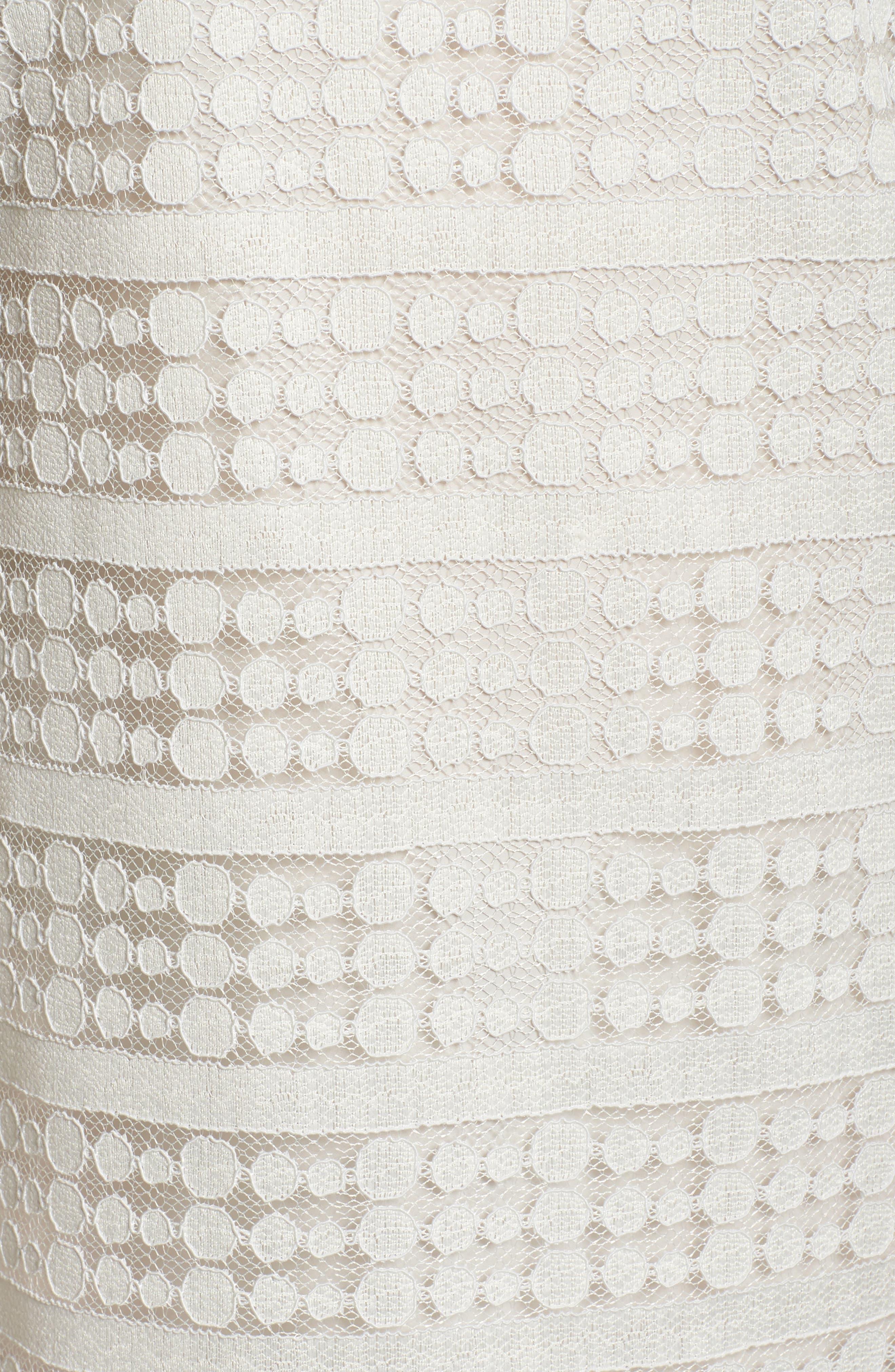Merengue Off the Shoulder Minidress,                             Alternate thumbnail 5, color,                             White