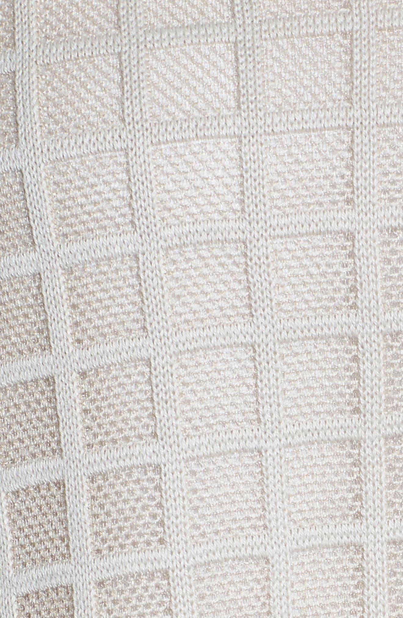 Alternate Image 5  - Ming Wang V-Neck Windowpane Sweater