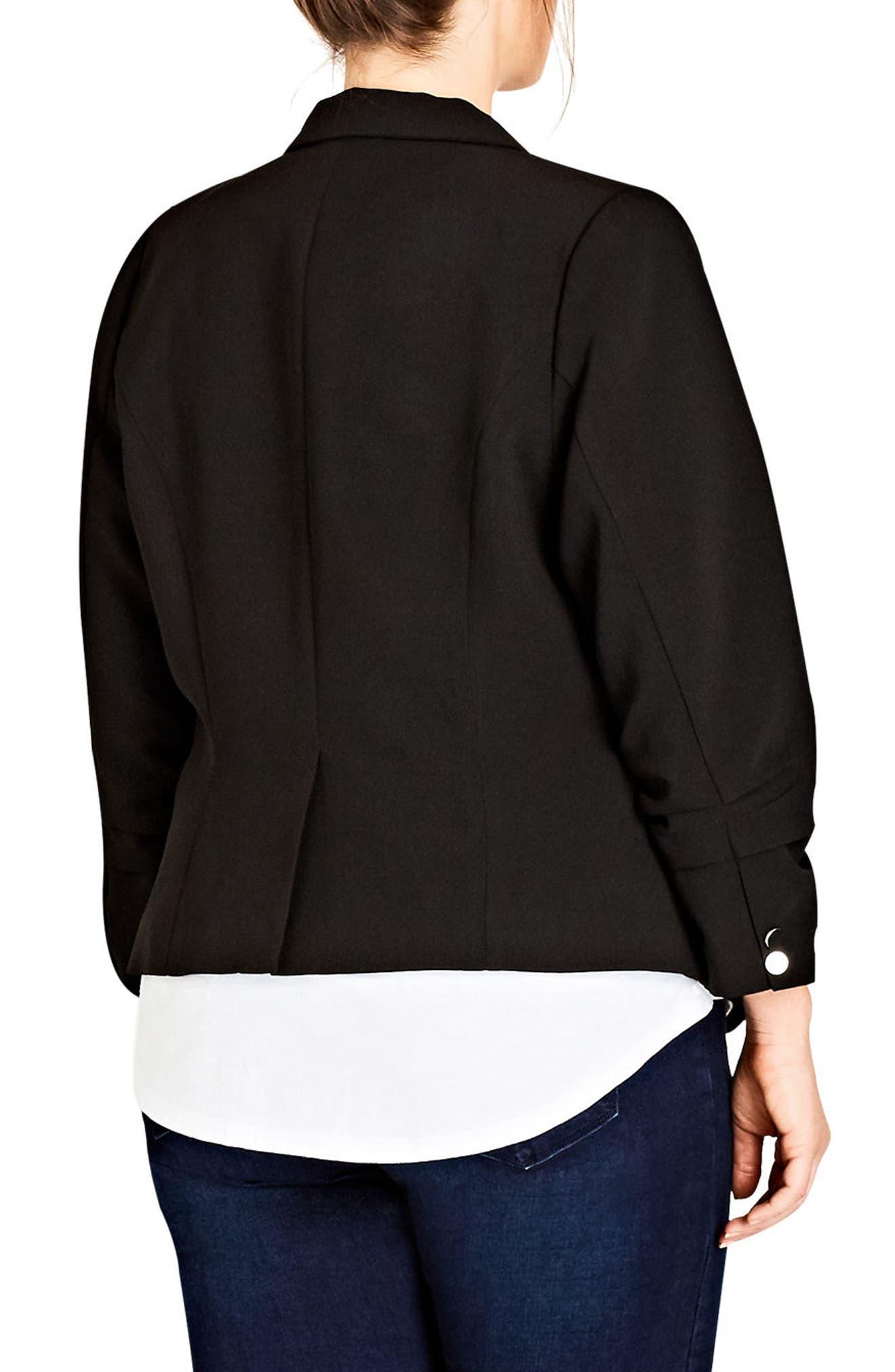 Classy Lady Jacket,                             Alternate thumbnail 2, color,                             Black