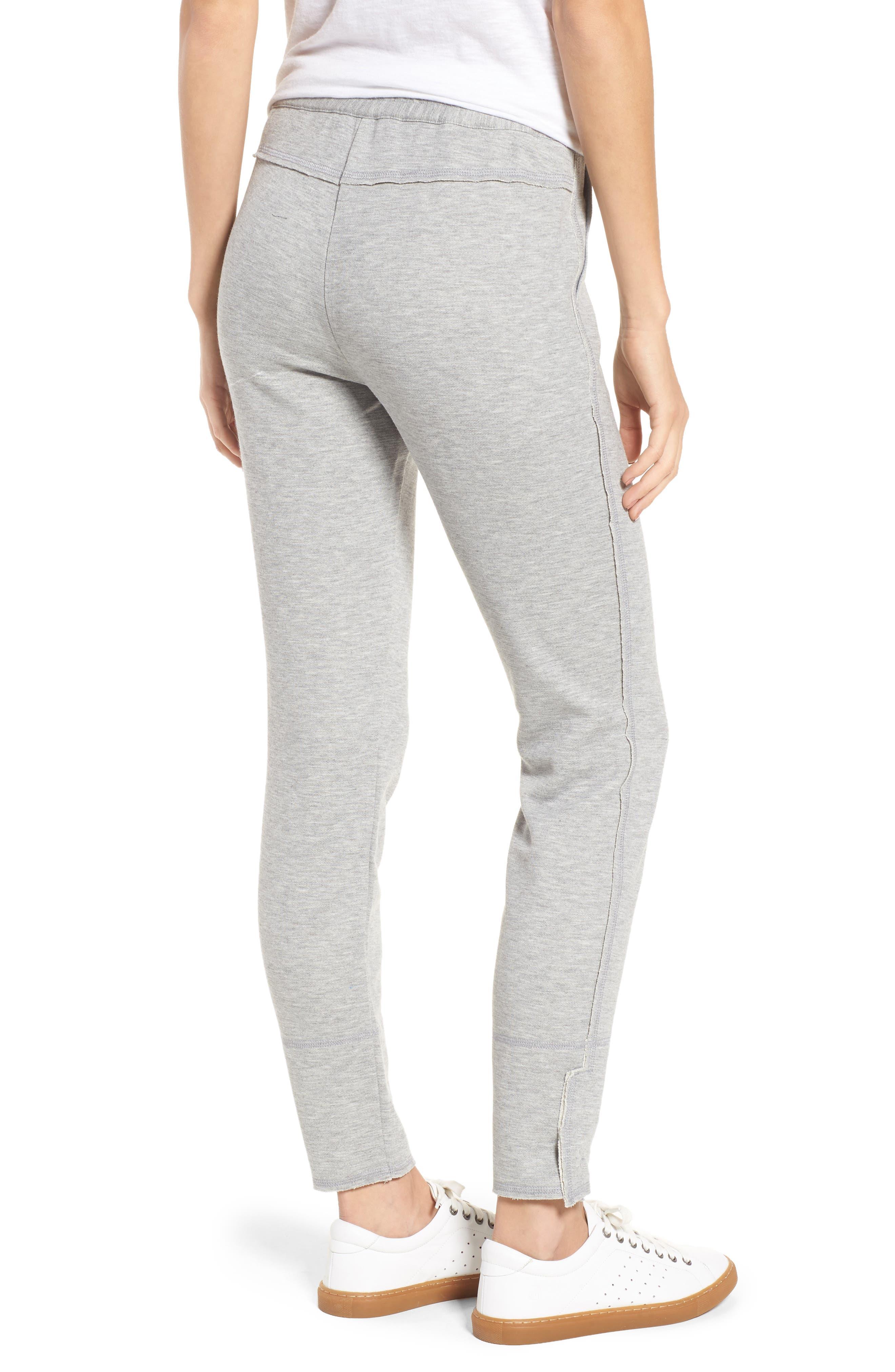 Slim Knit Pants,                             Alternate thumbnail 2, color,                             Heather Grey
