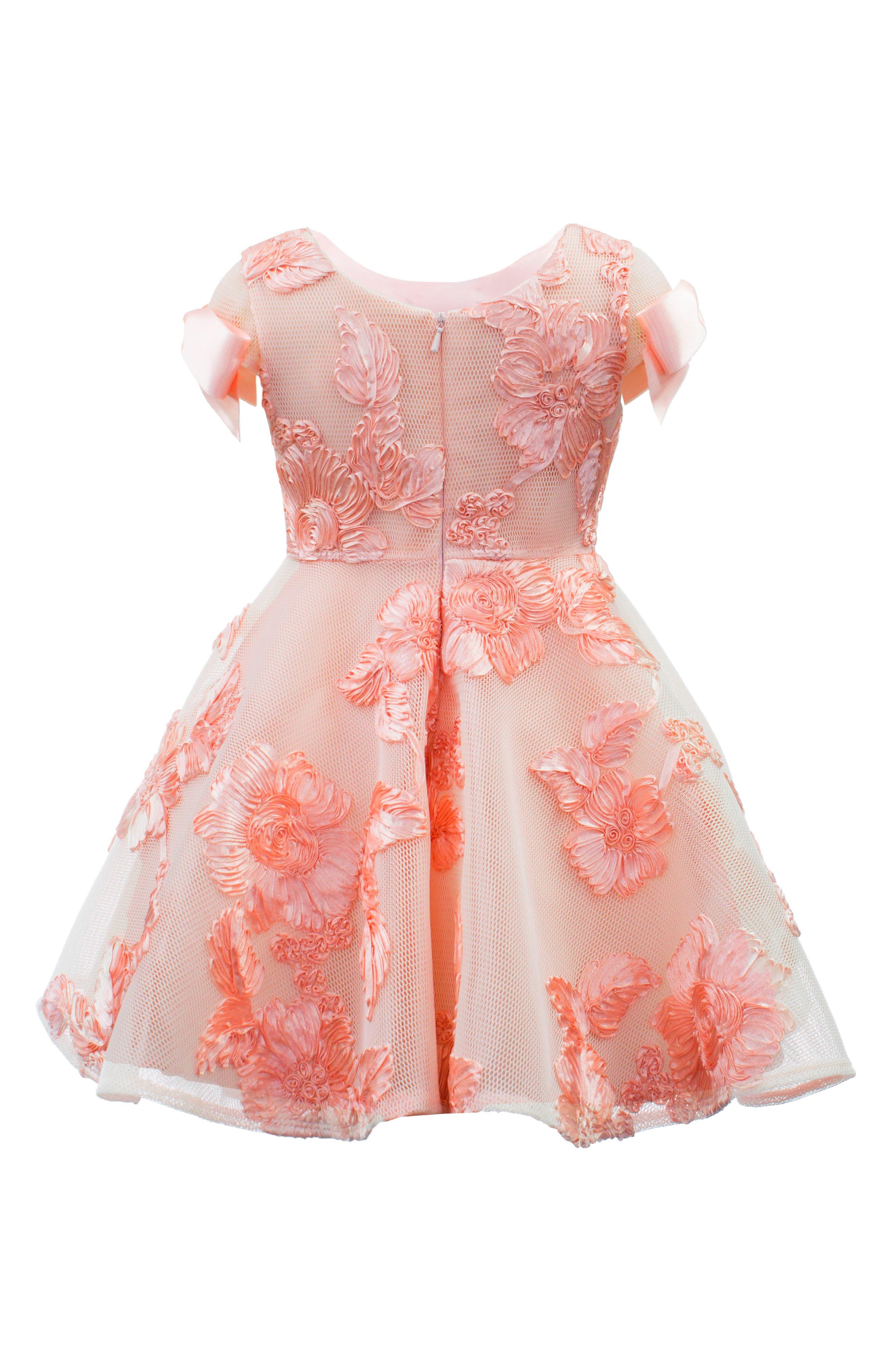 Soutache Embellished Mesh Dress,                             Alternate thumbnail 2, color,                             Blush Pink