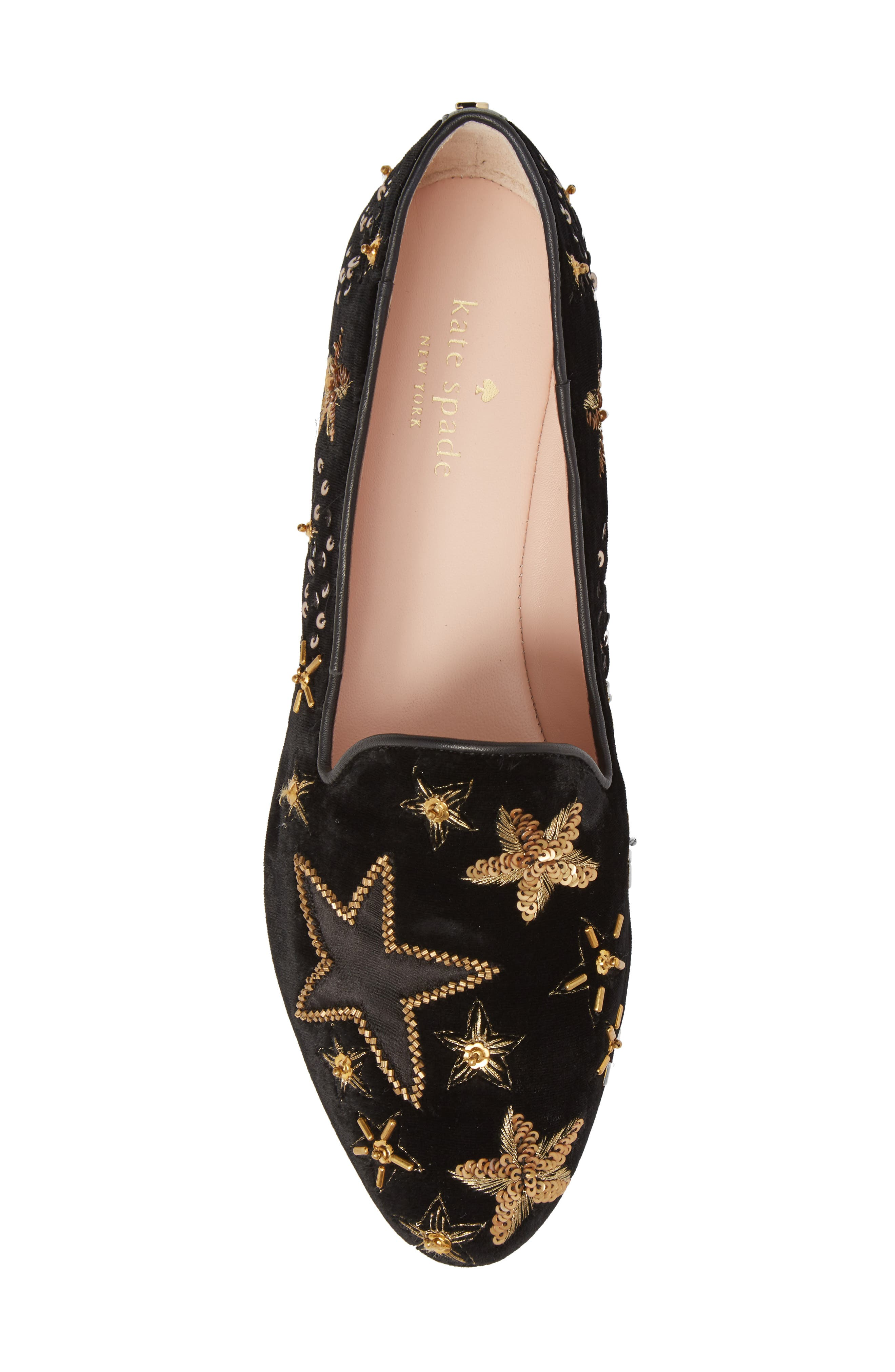 stelli embellished loafer,                             Alternate thumbnail 5, color,                             Black Velvet