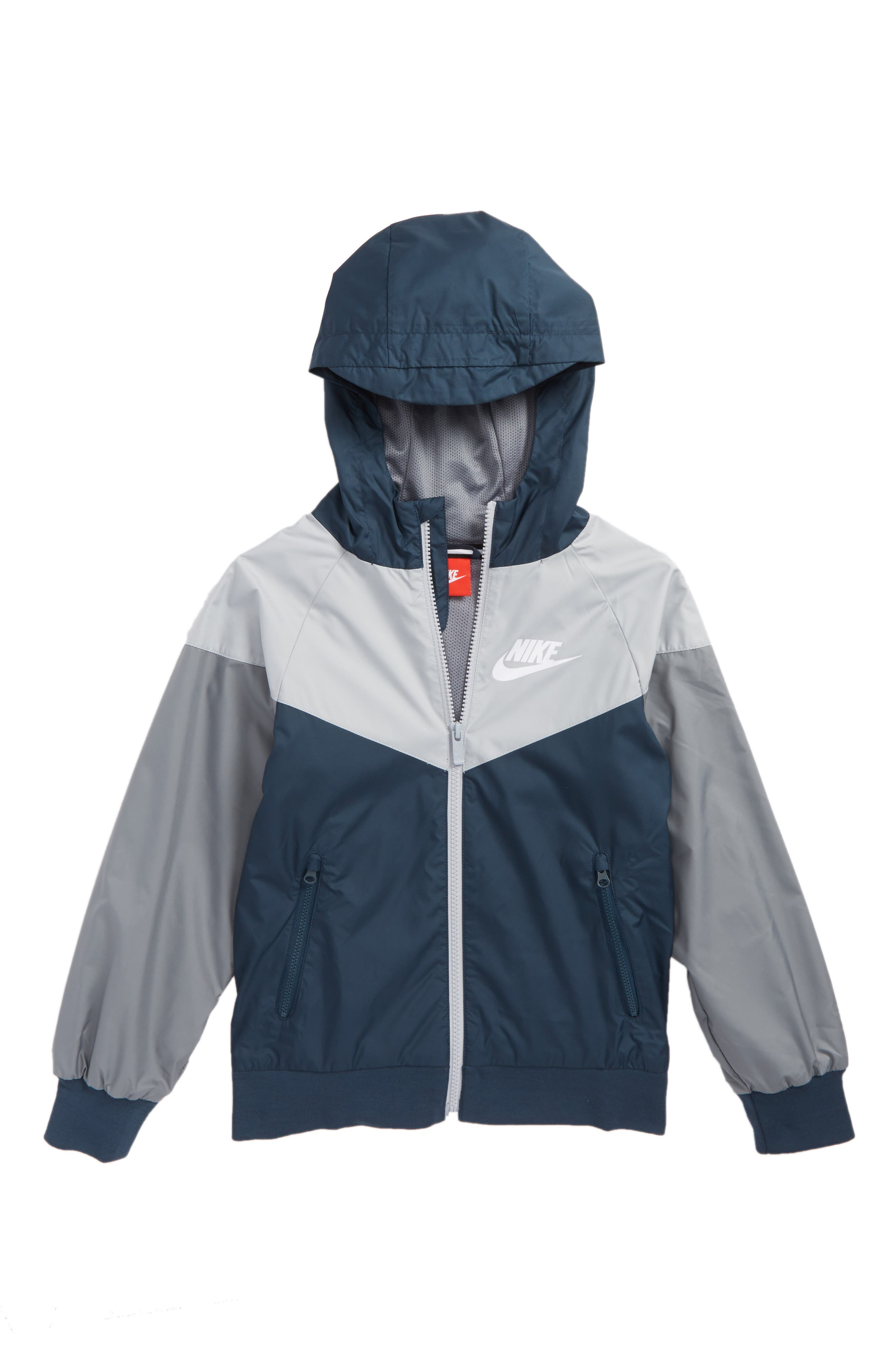 Alternate Image 1 Selected - Nike Windrunner Water Resistant Hooded Jacket (Little Boys & Big Boys)
