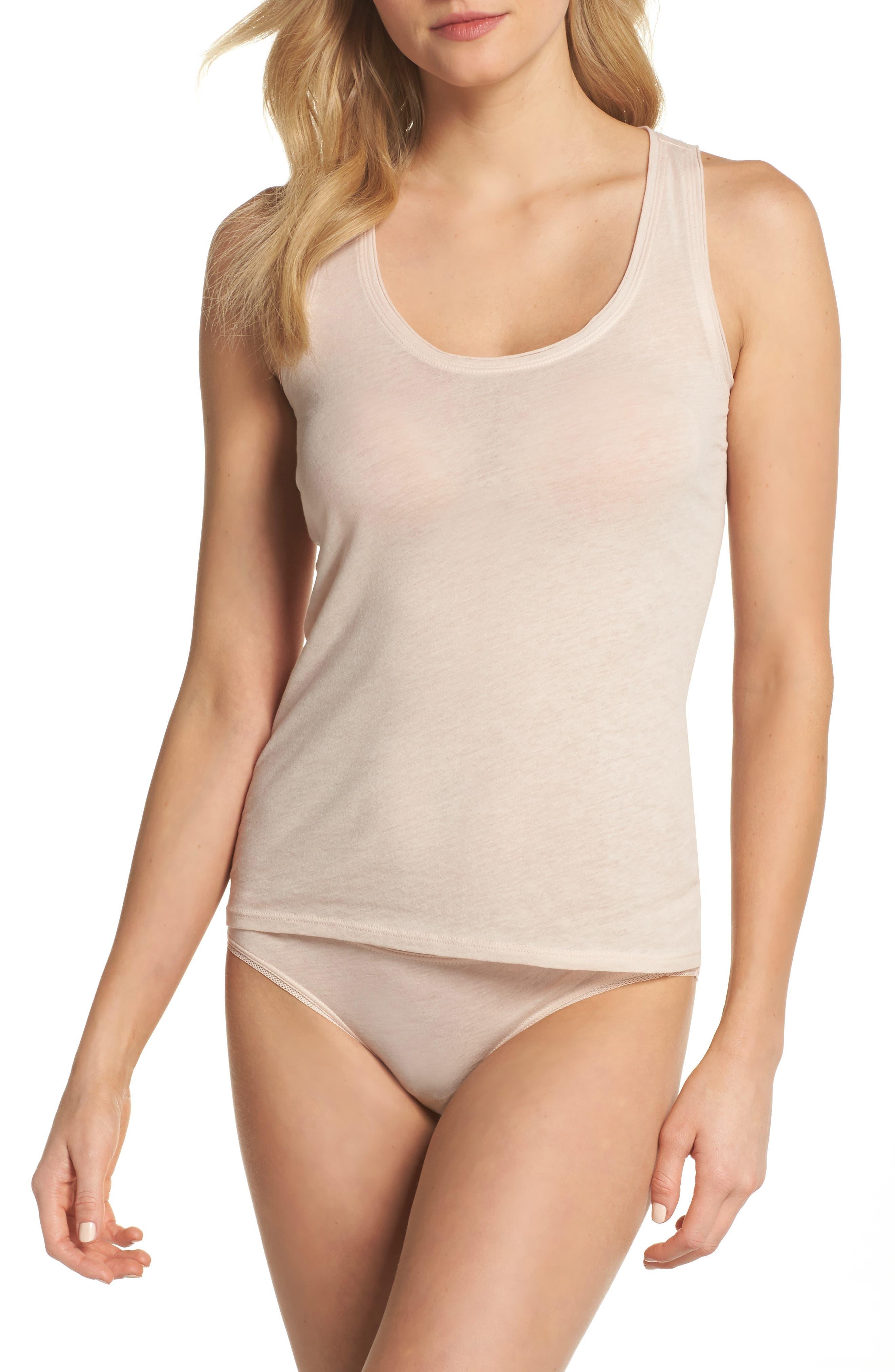 Organic Pima Cotton Bikini,                             Alternate thumbnail 5, color,                             Powder Pink