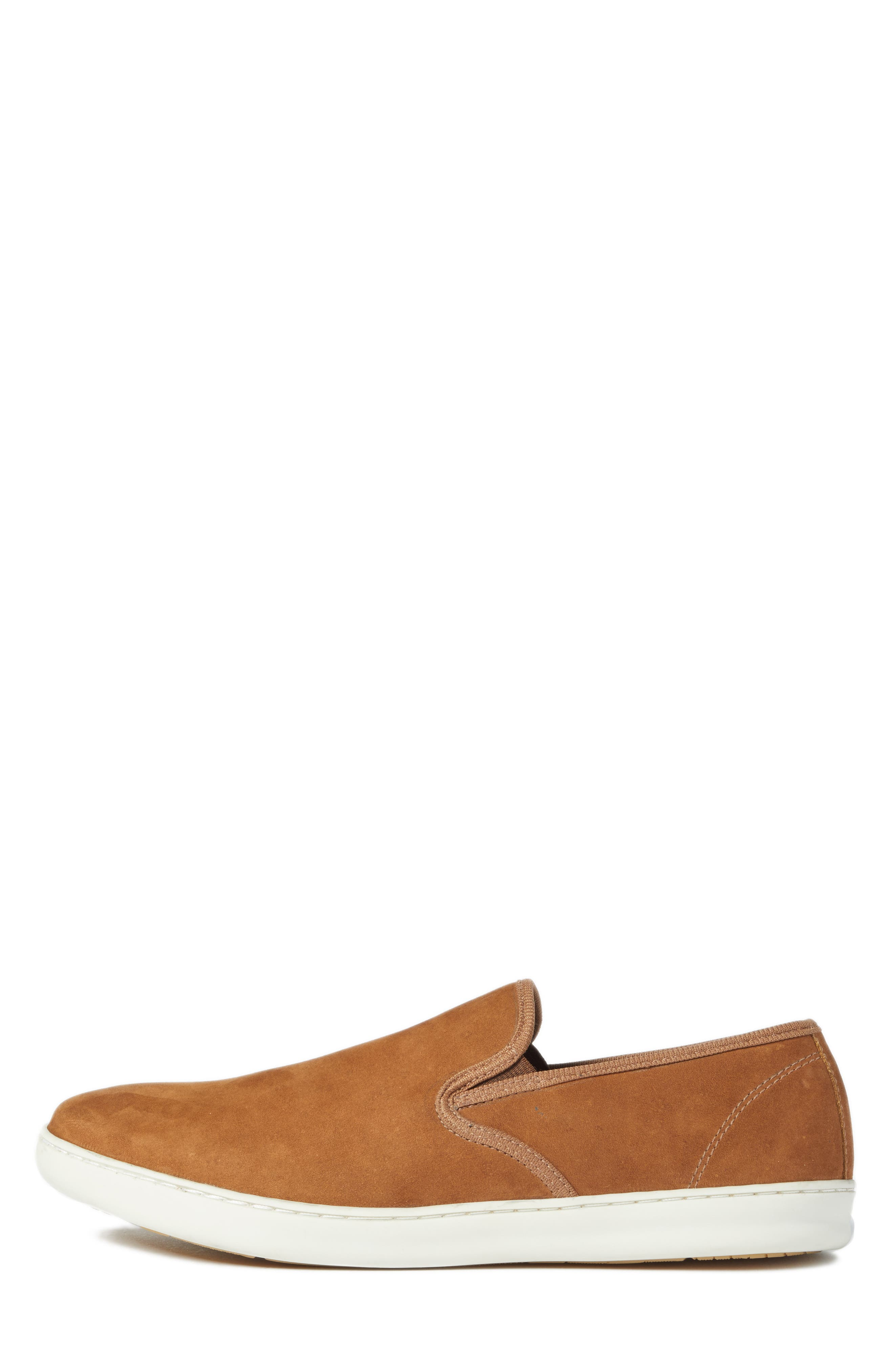 Malibu Slip-on,                             Alternate thumbnail 3, color,                             Tan Nubuck