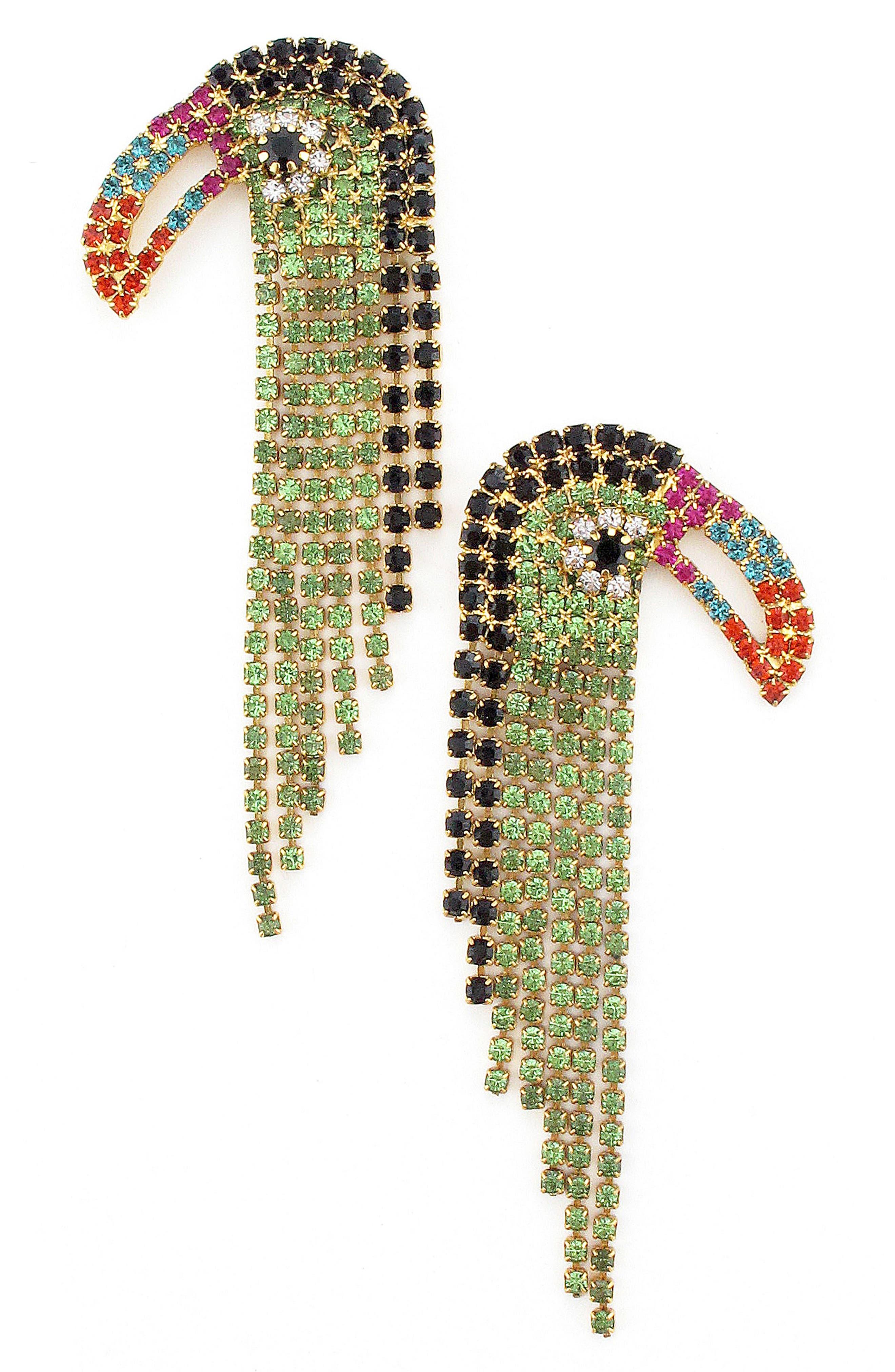 Main Image - Elizabeth Cole Tweetie Tucan Crystal Drop Earrings