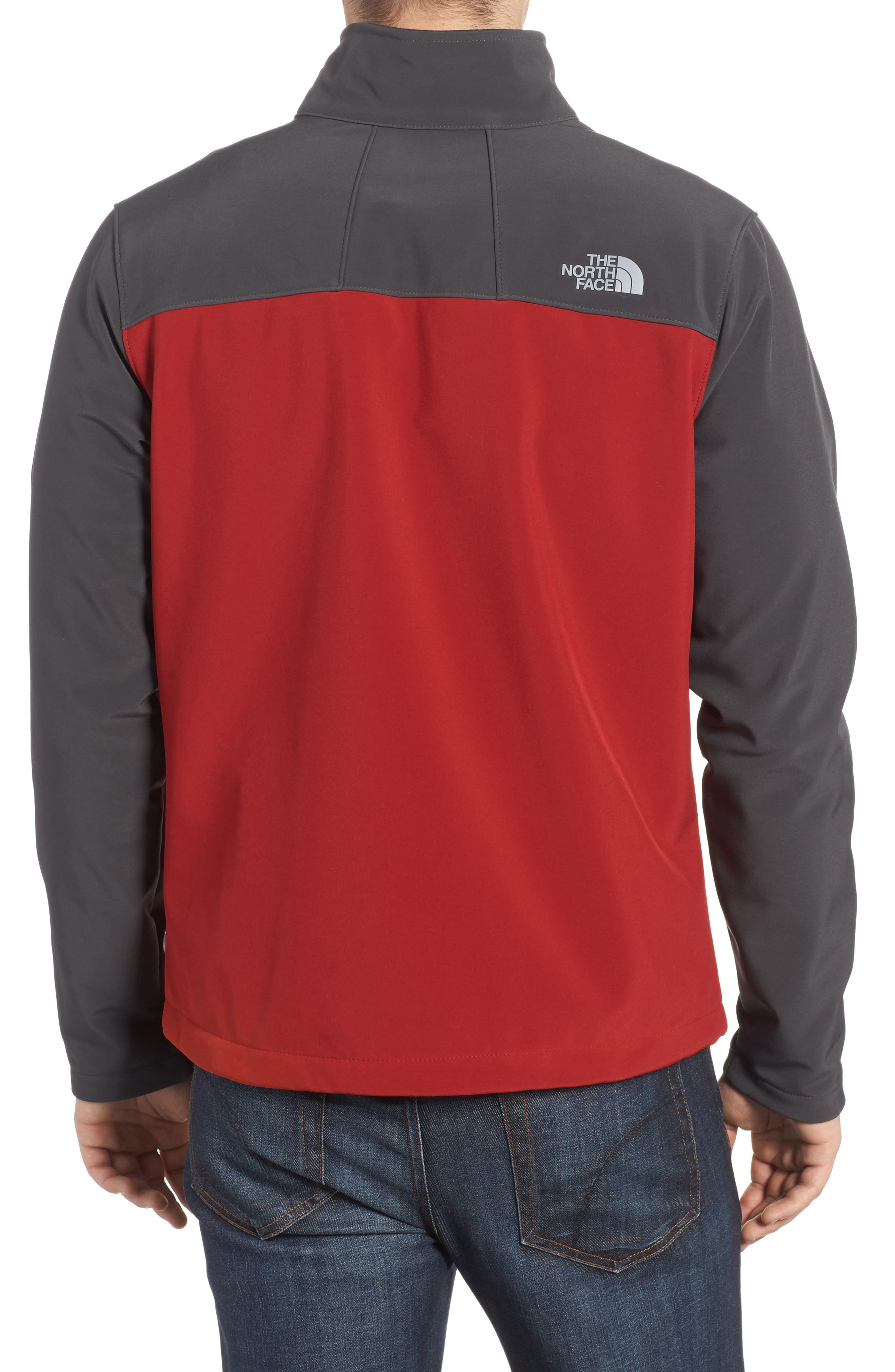 'Apex Bionic 2' Windproof & Water Resistant Soft Shell Jacket,                             Alternate thumbnail 2, color,                             Cardinal Red/ Asphalt Grey