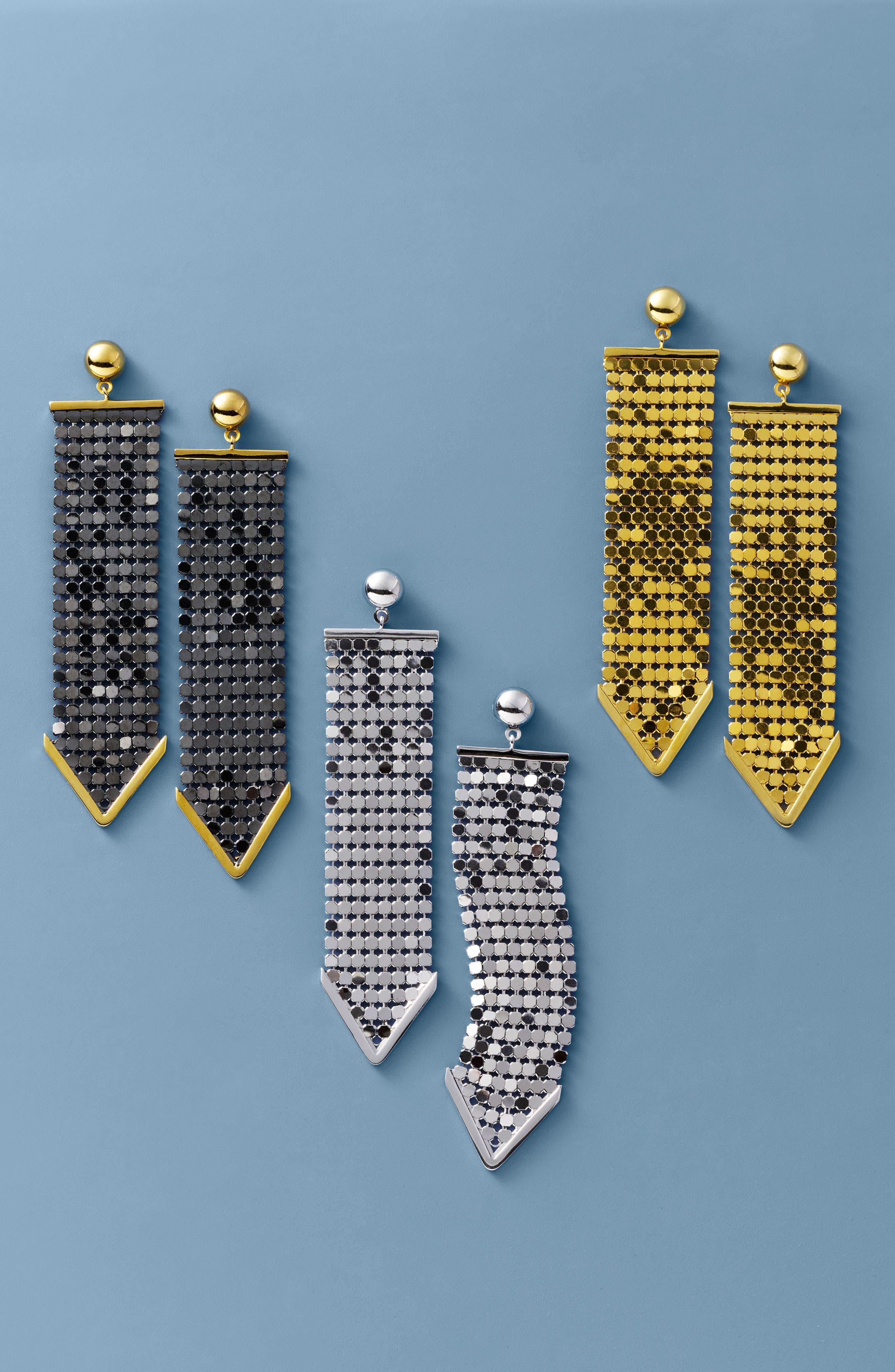 Mesh Earrings,                             Alternate thumbnail 2, color,