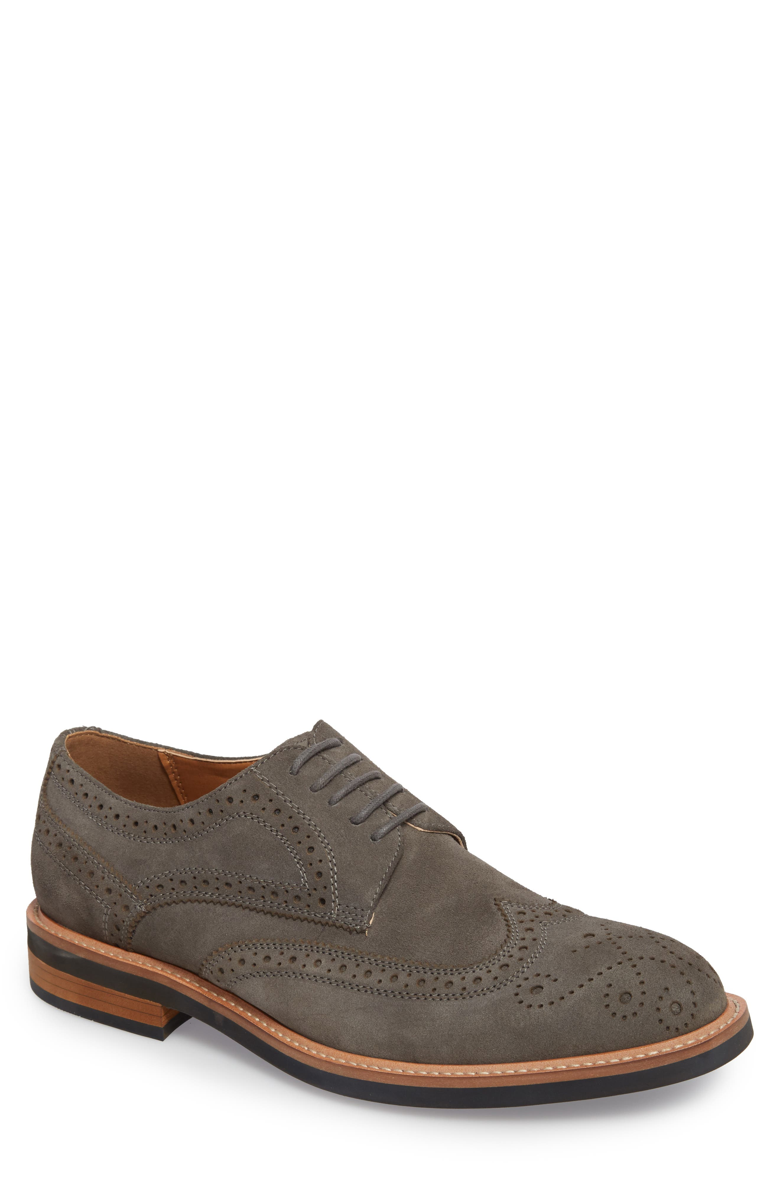 Kenneth Cole Reaction Wingtip,                         Main,                         color, Grey