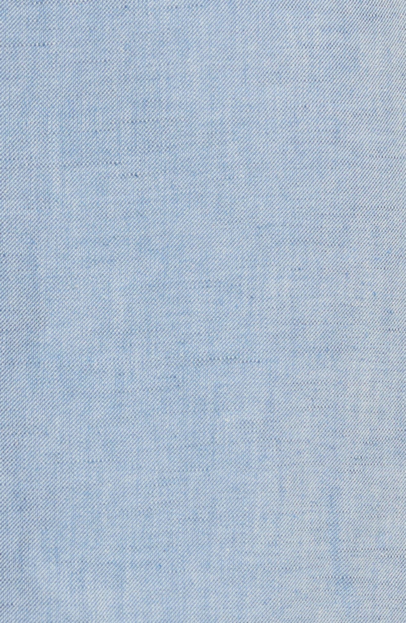 Jupe Genou Skirt,                             Alternate thumbnail 5, color,                             Bleu Acier