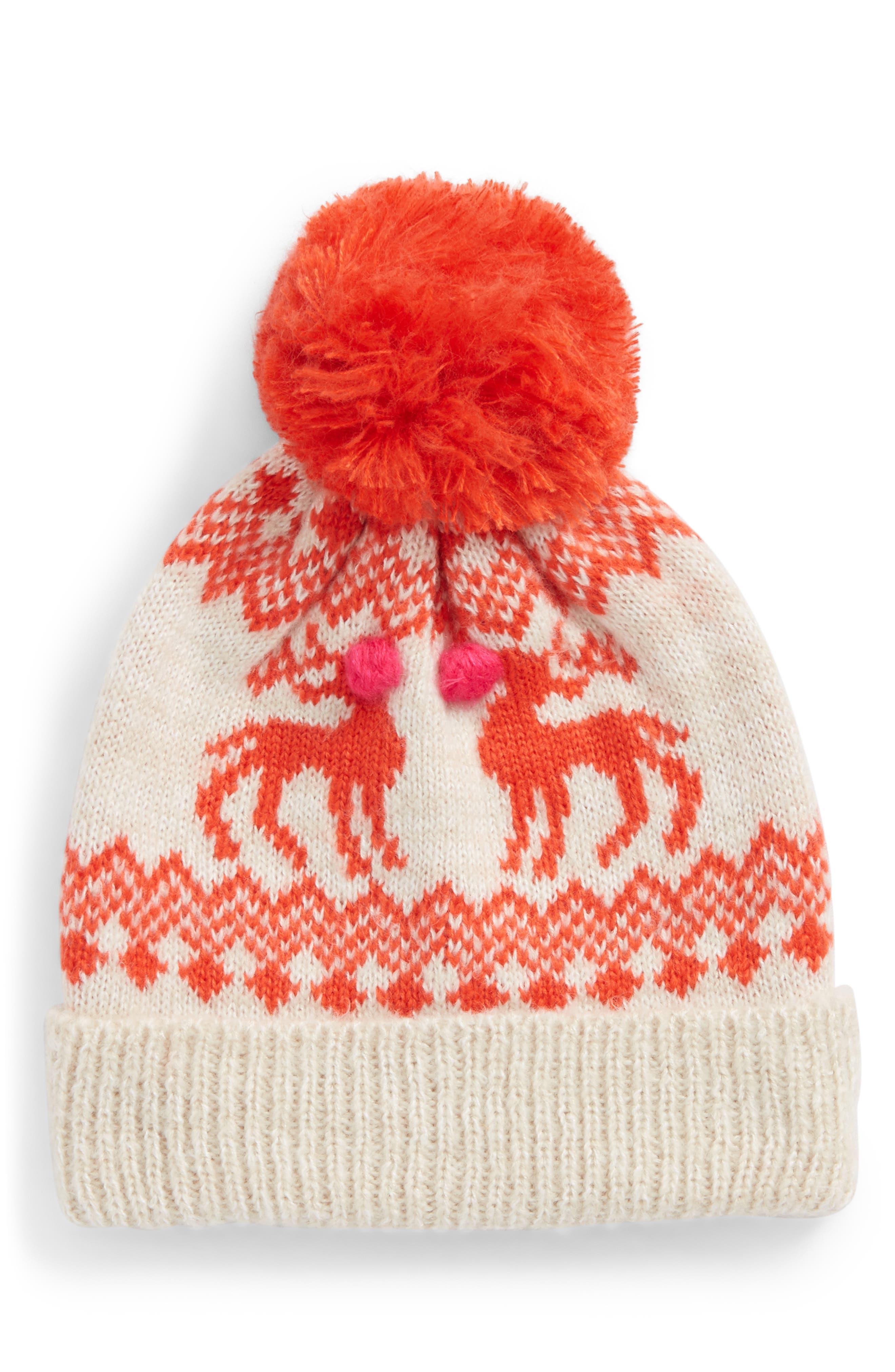Main Image - Mini Boden Festive Hat (Little Girls & Big Girls)