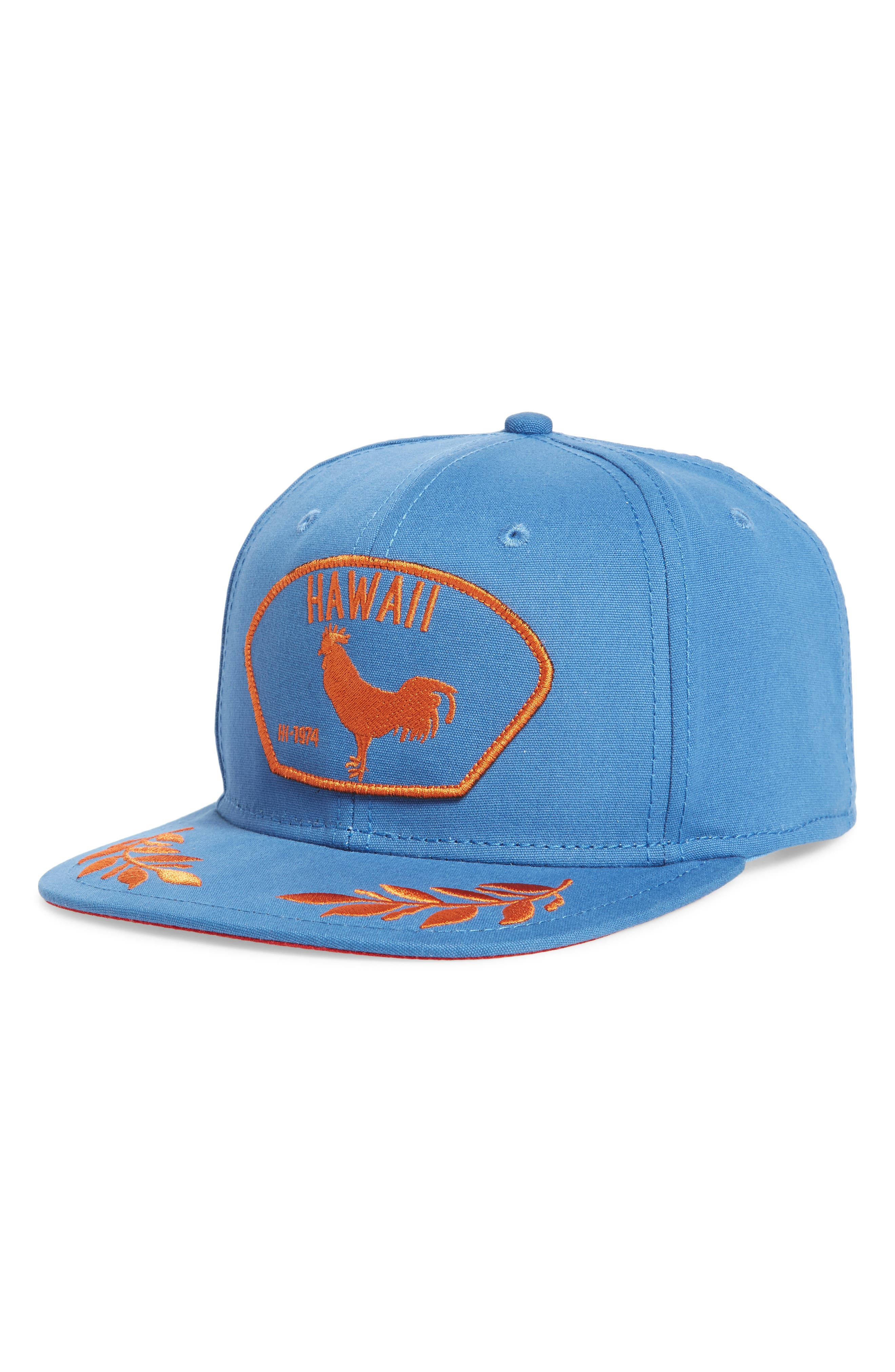 Island Bird Snapback Baseball Cap,                             Main thumbnail 1, color,                             Blue