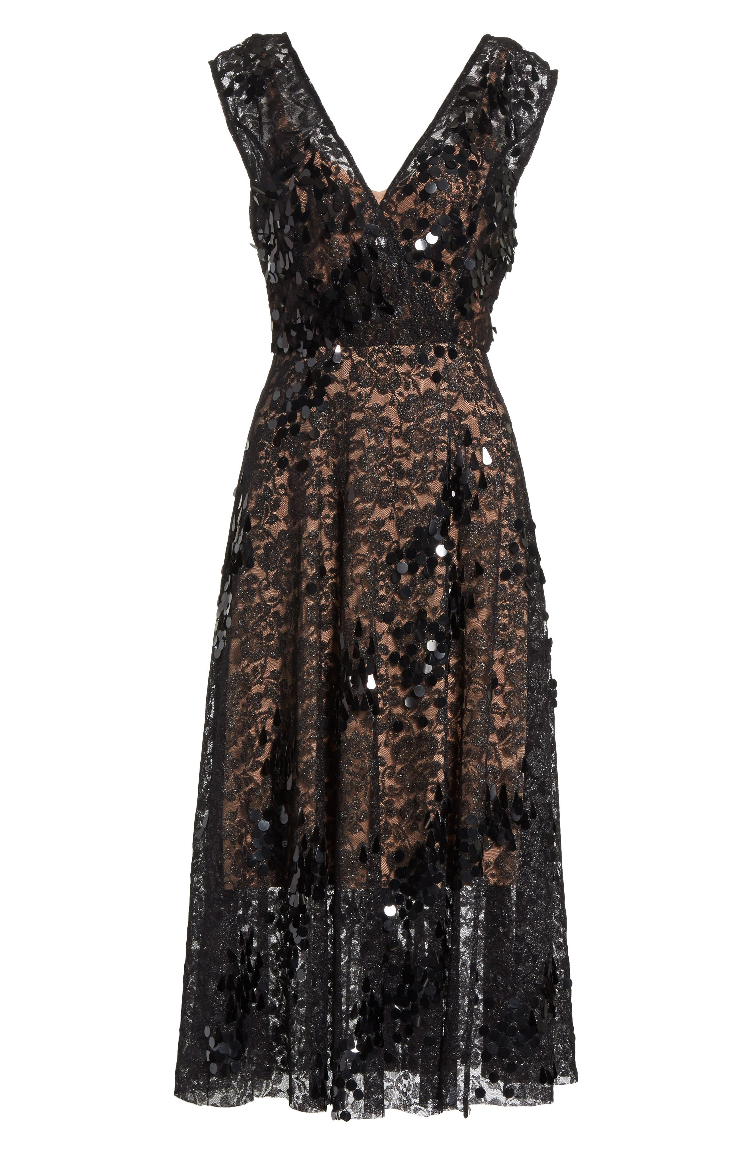 Alternate Image 6  - Tracy Reese Lace Fit & Flare Midi Dress