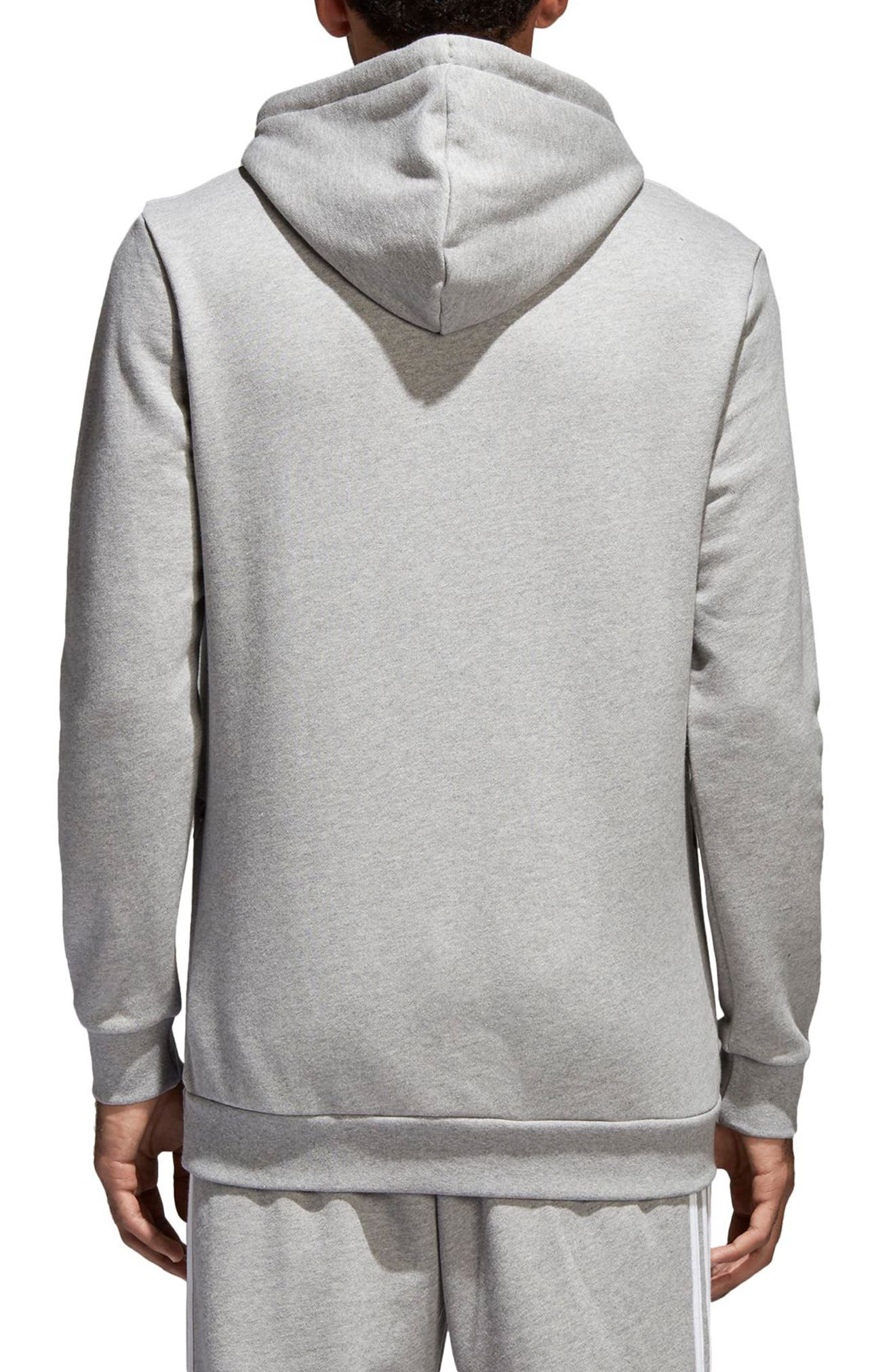 Trefoil Warm-Up Hoodie,                             Alternate thumbnail 2, color,                             Med Grey Hthr