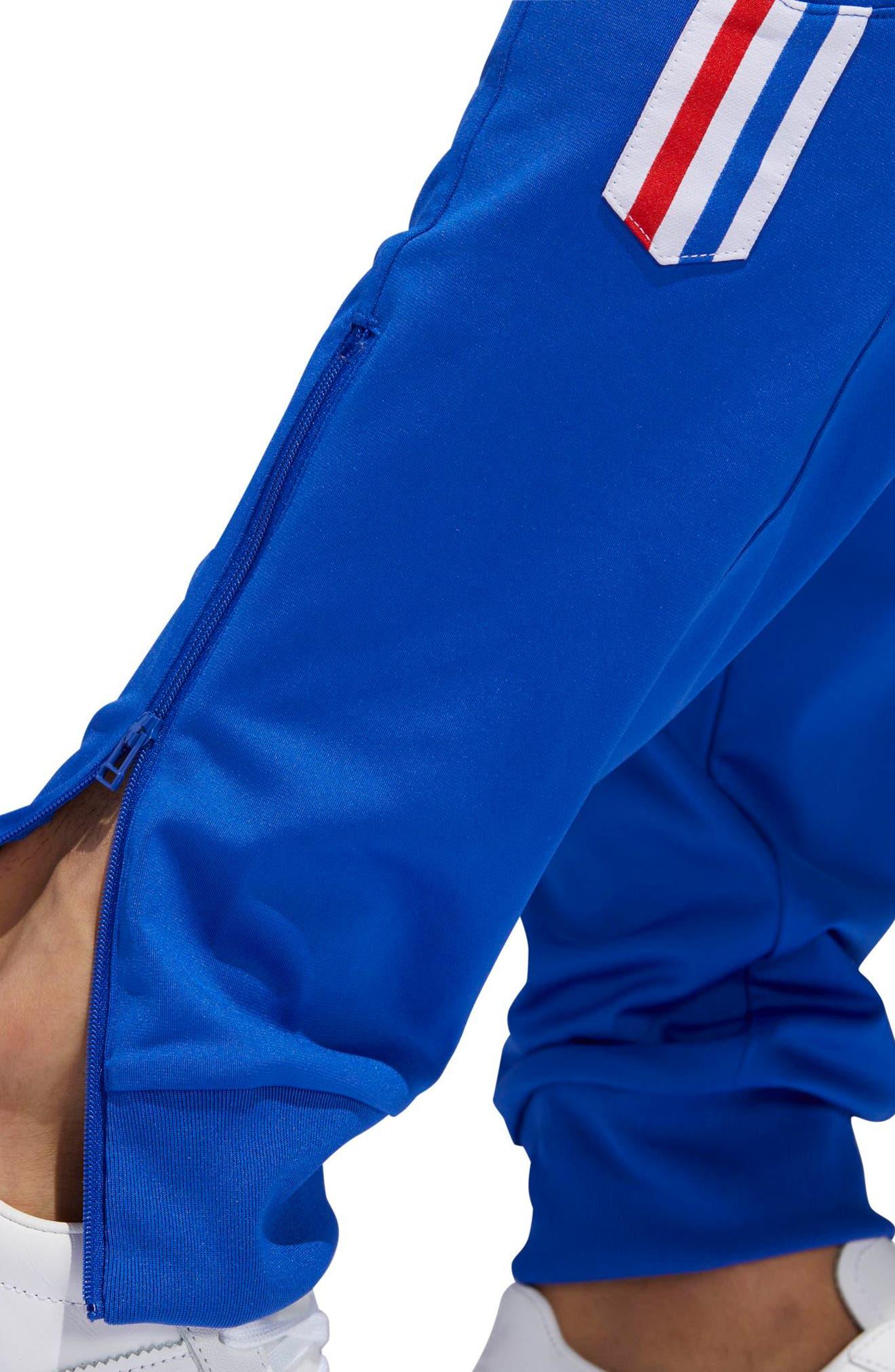 Aloxe Slim Track Pants,                             Alternate thumbnail 5, color,                             Bold Blue/ White