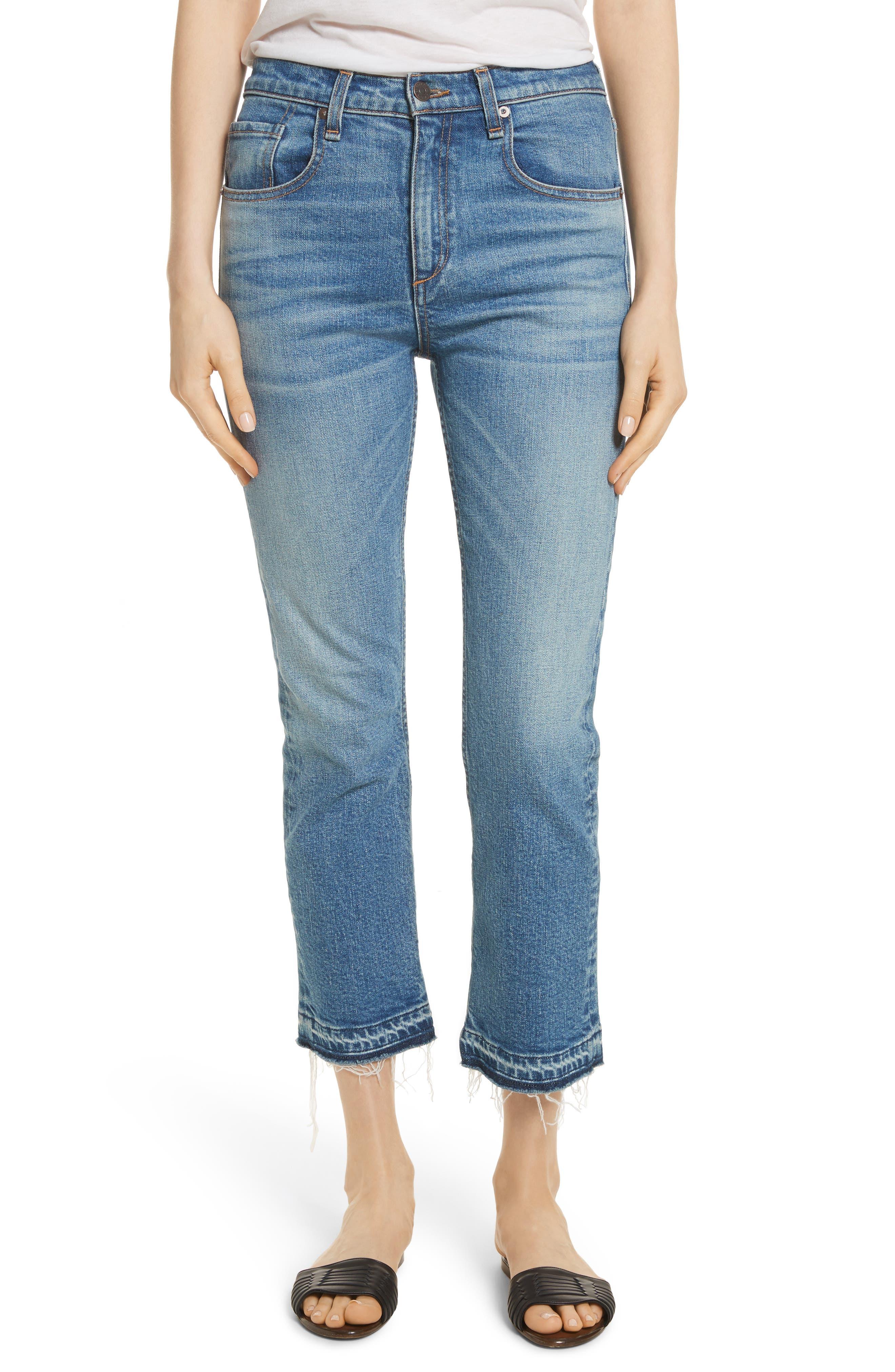 Veronica Beard Ines Crop Girlfriend Jeans (Pipeline)