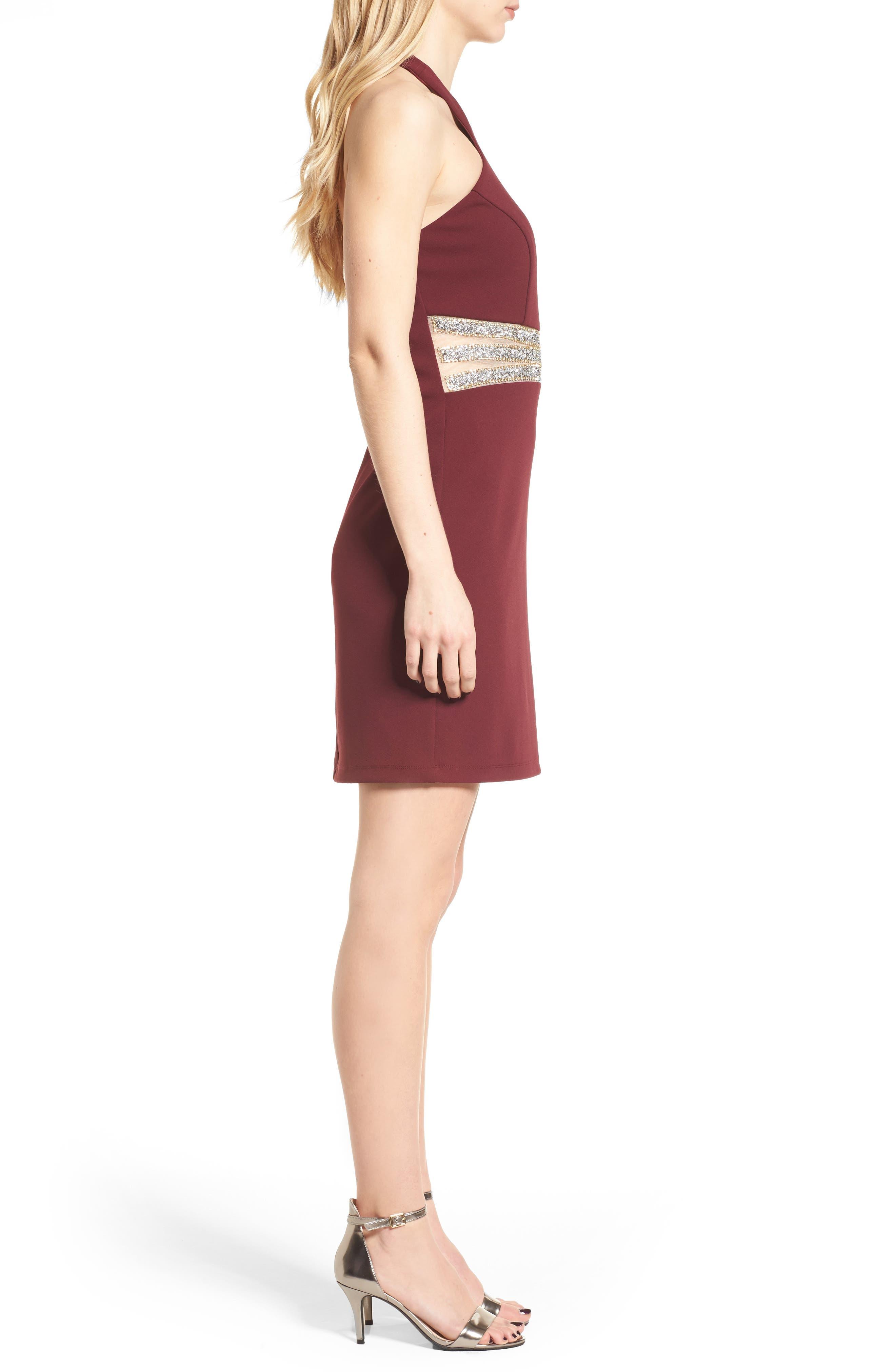 Alternate Image 3  - Speechless Embellished Halter Body-Con Dress