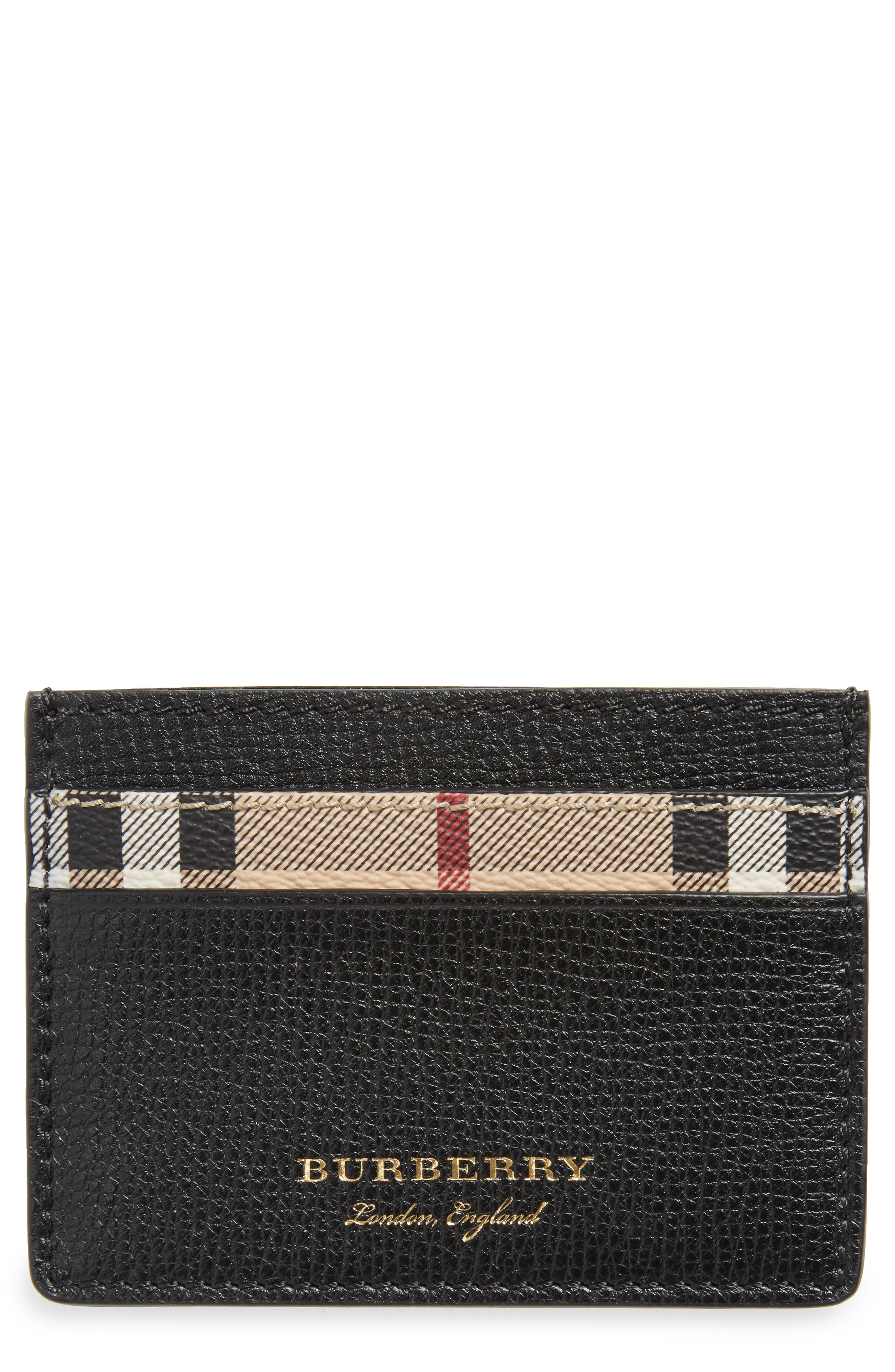 Sandon Haymarket Card Case,                             Main thumbnail 1, color,                             Black