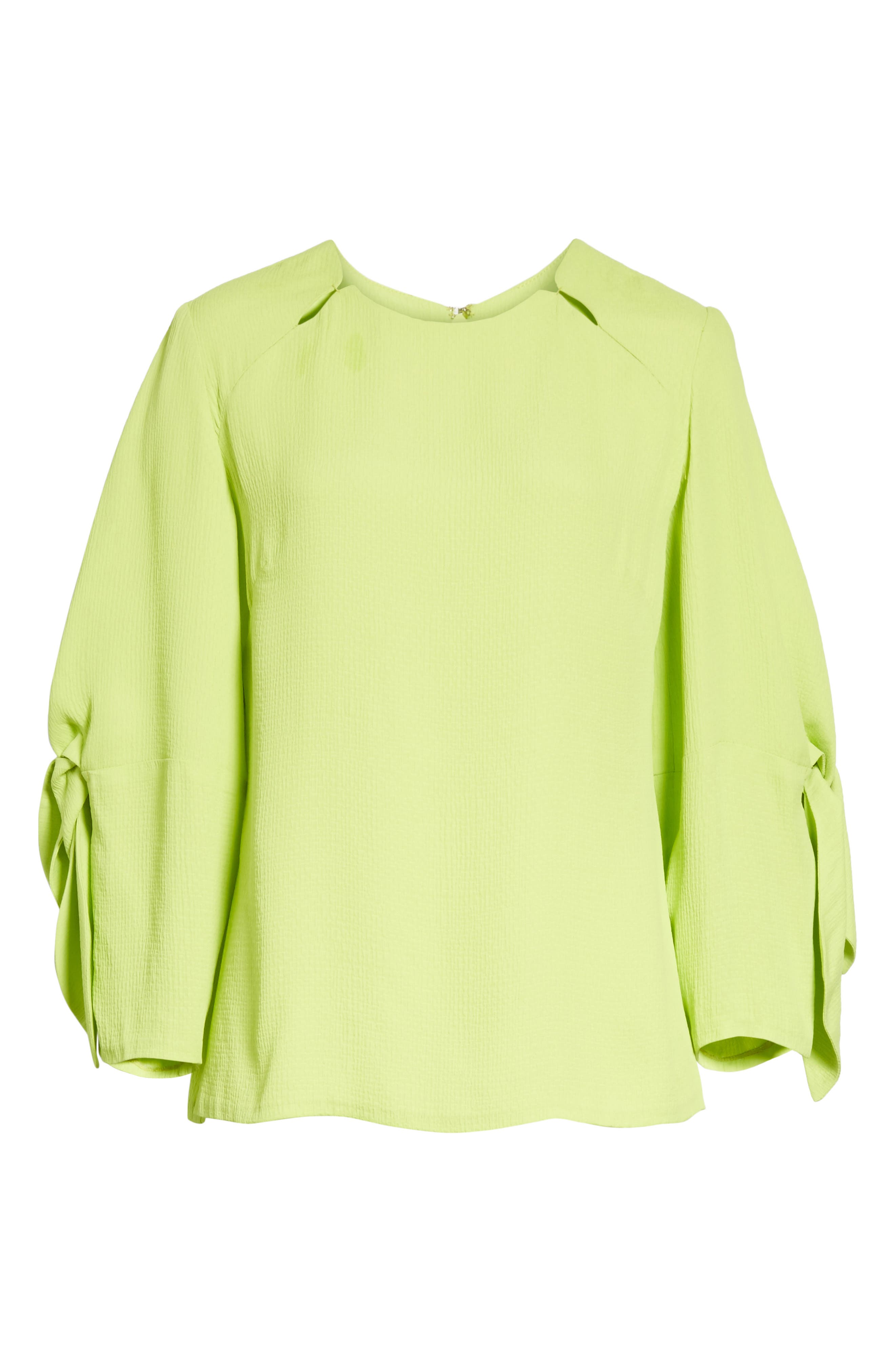 Tie Sleeve Top,                             Alternate thumbnail 6, color,                             Lime