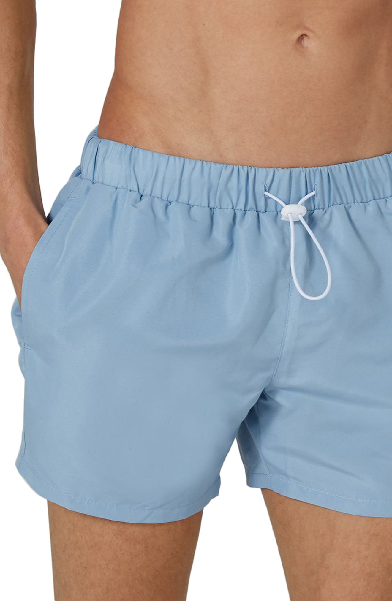Neptune Swim Trunks,                             Alternate thumbnail 3, color,                             Mid Blue