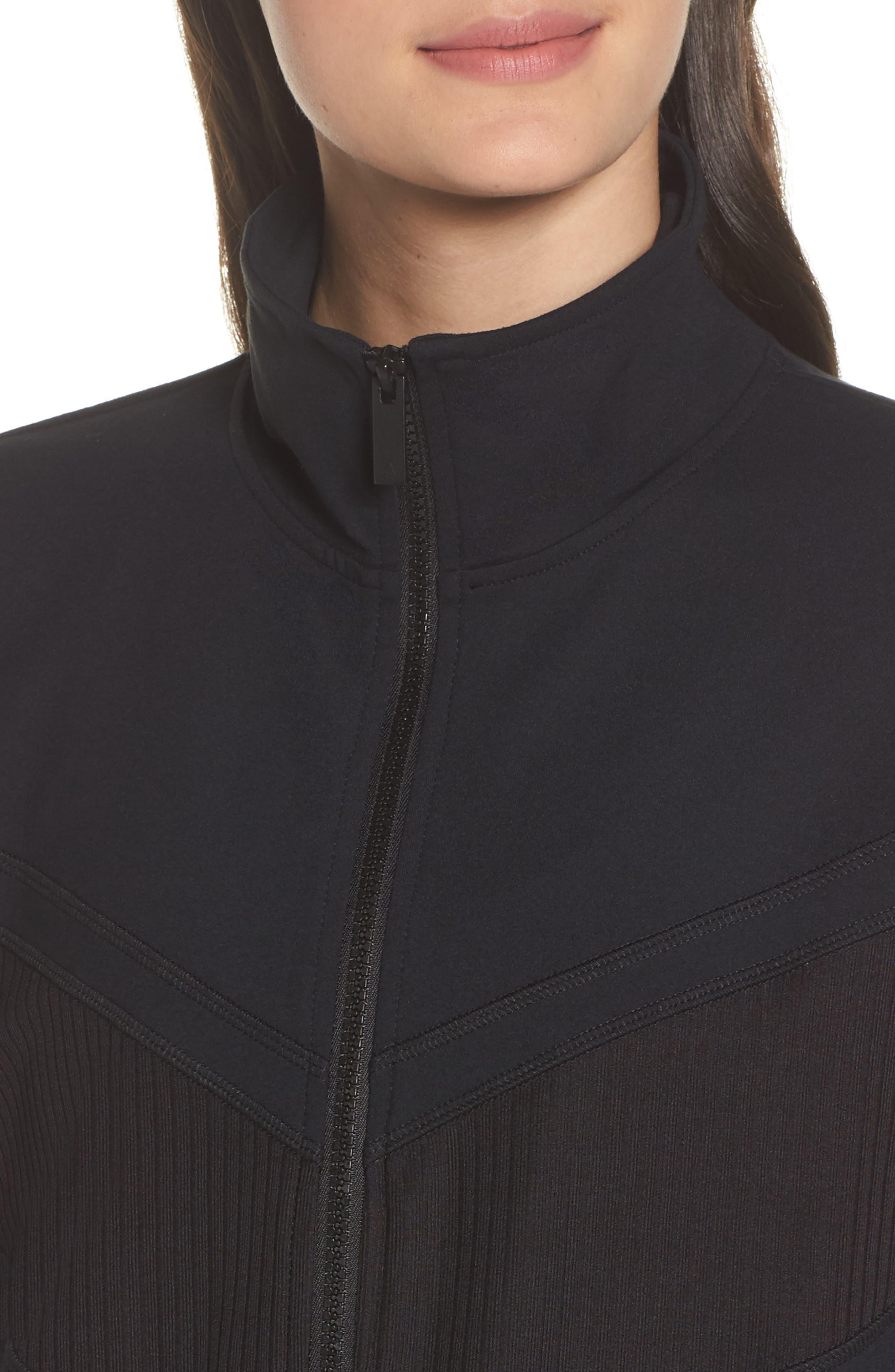 Cato Quarter Zip Pullover,                             Alternate thumbnail 4, color,                             Black
