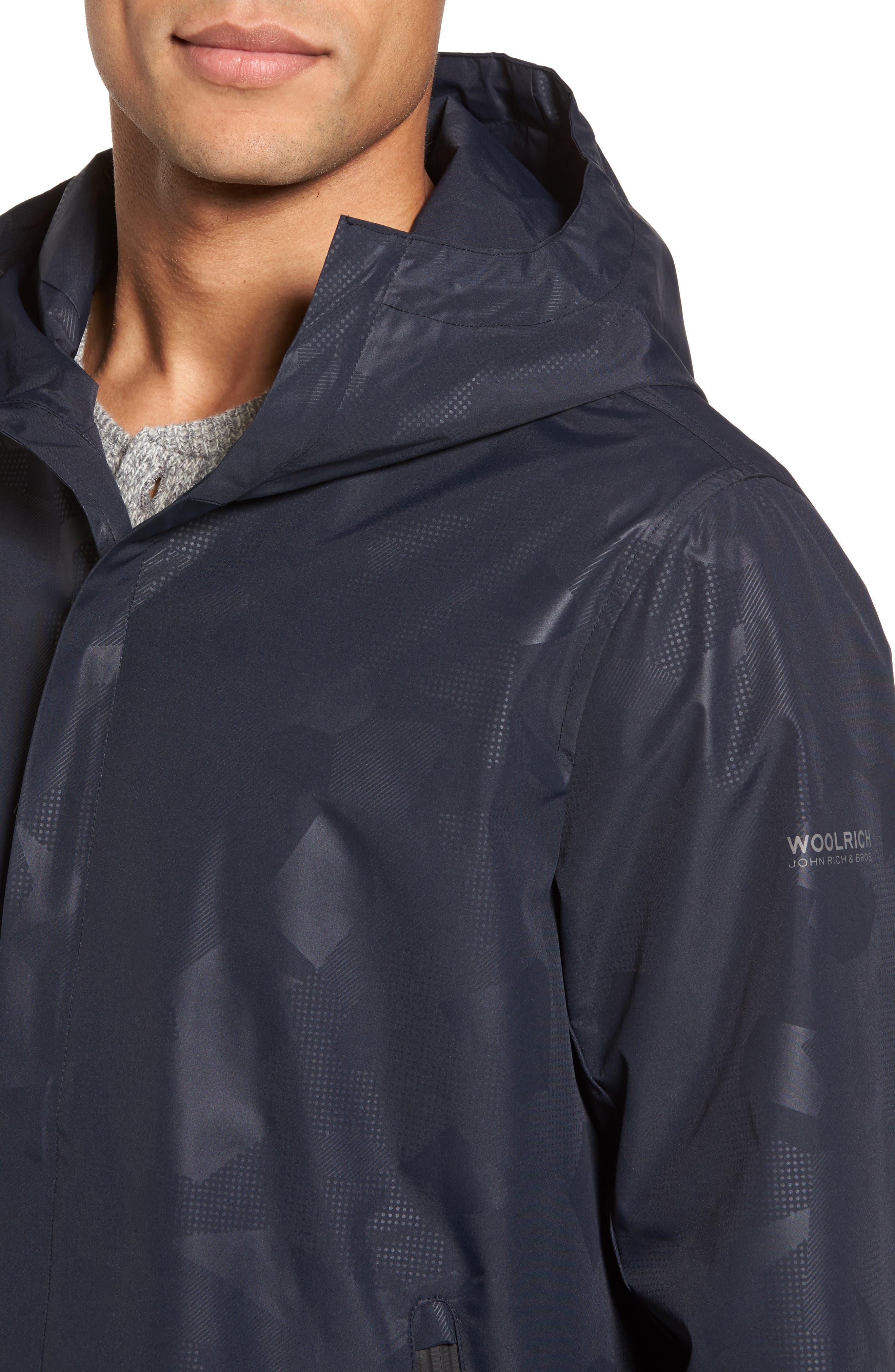 John Rich & Bros. Atlantic Camo Hooded Jacket,                             Alternate thumbnail 4, color,                             Melton Blue Camo