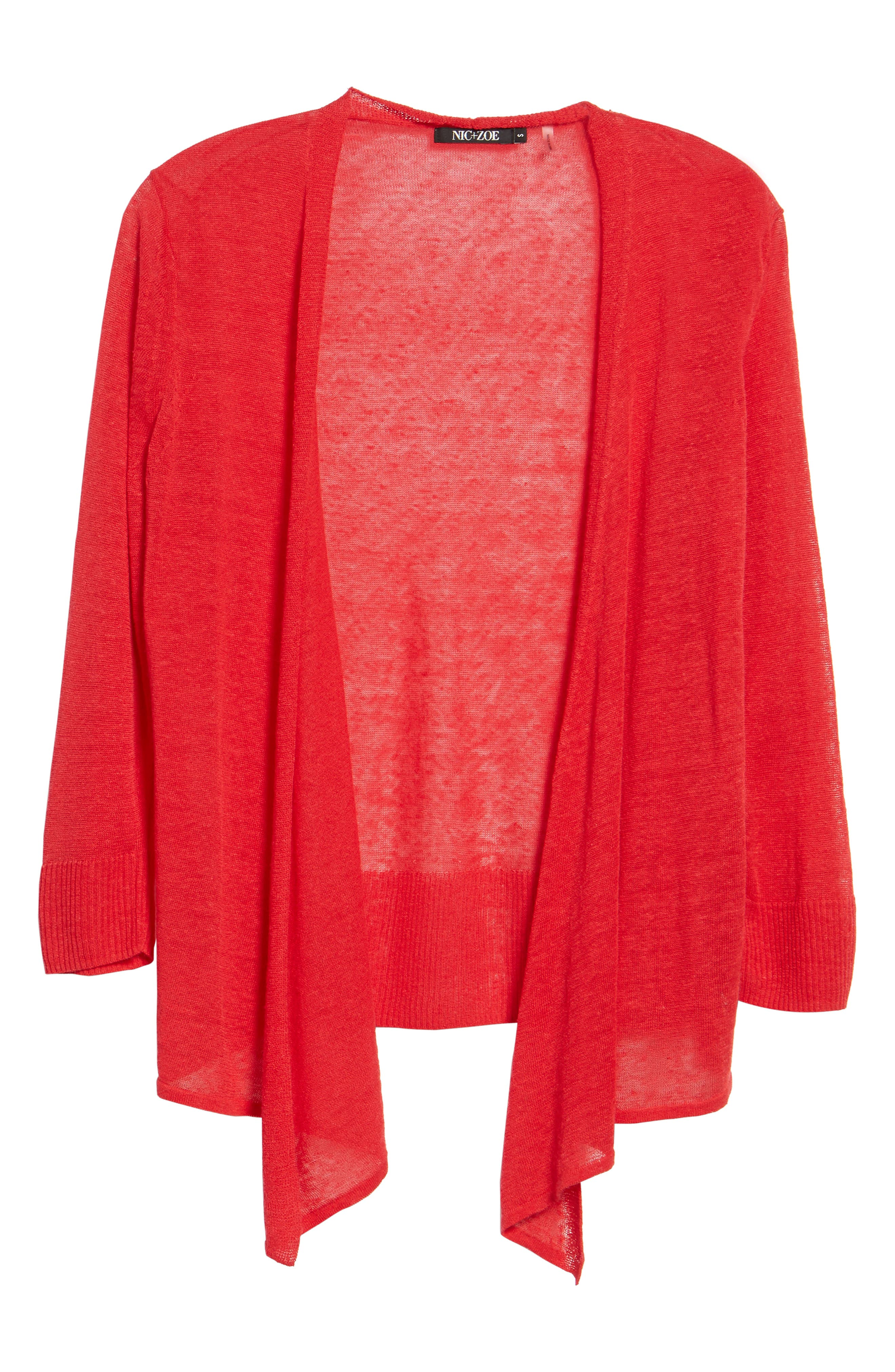4-Way Cardigan,                             Alternate thumbnail 6, color,                             True Red