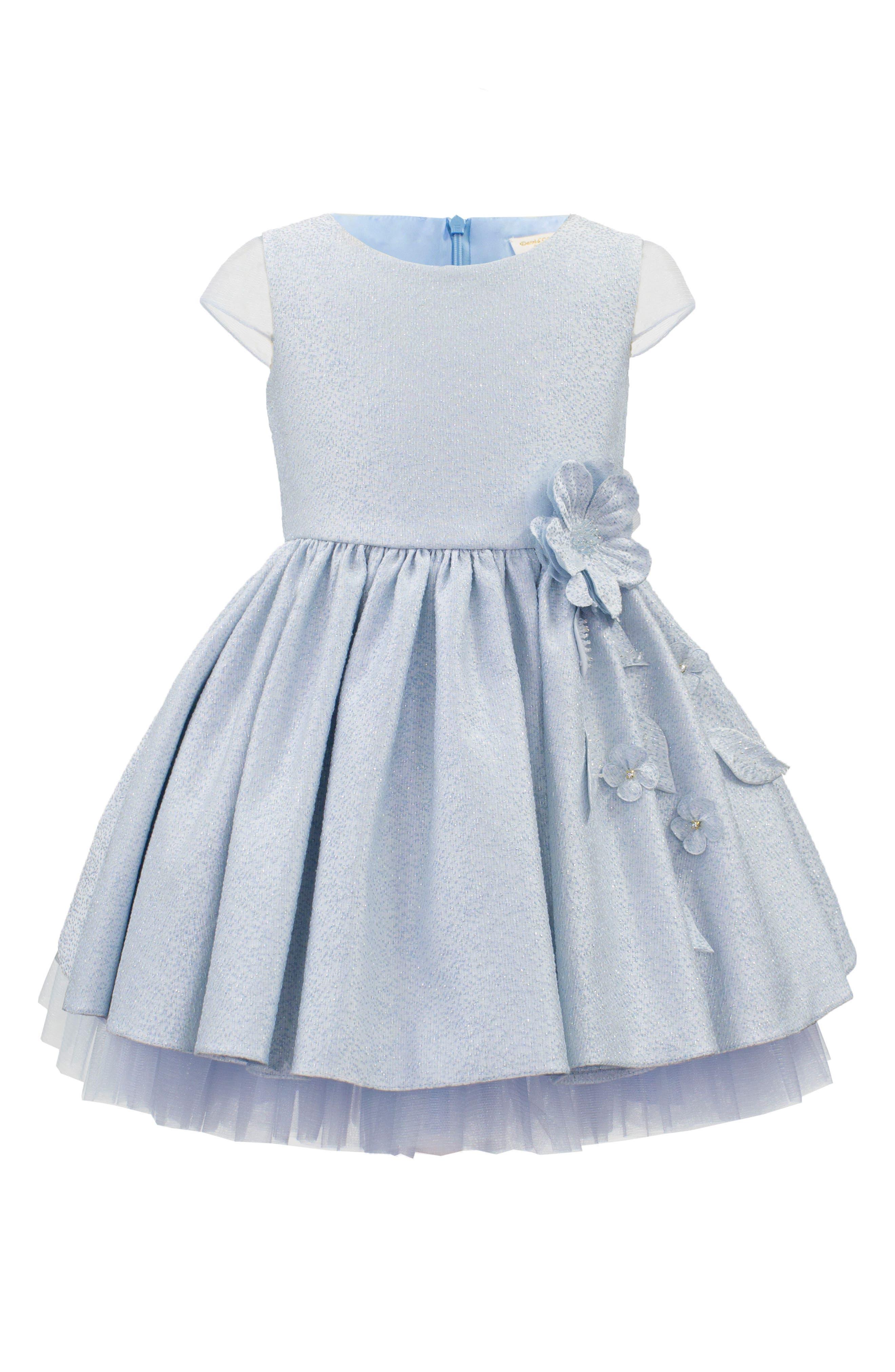 Main Image - David Charles Brocade Party Dress (Toddler Girls, Little Girls & Big Girls)