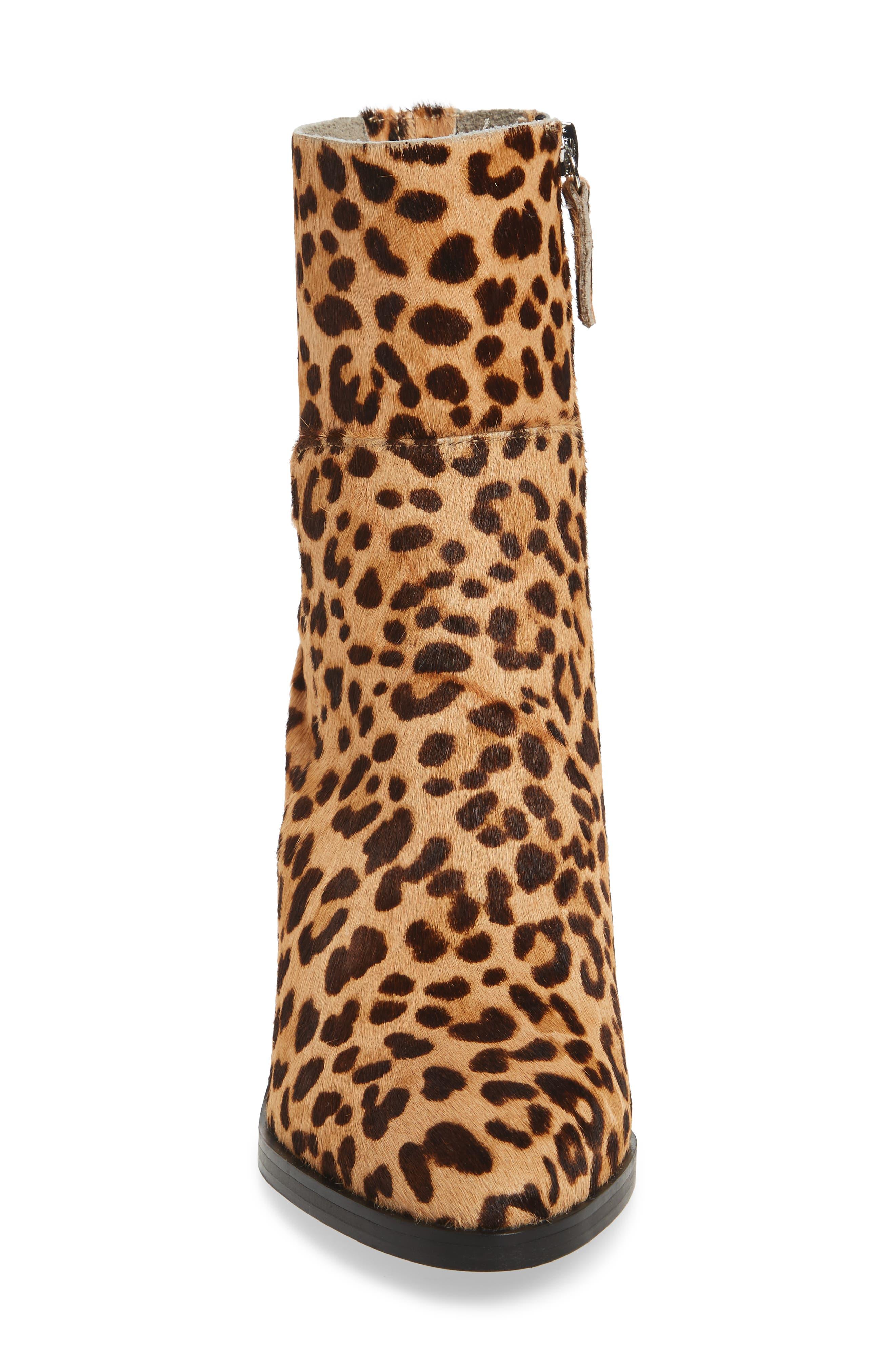 Rewind-L Genuine Calf Hair Bootie,                             Alternate thumbnail 4, color,                             Leopard