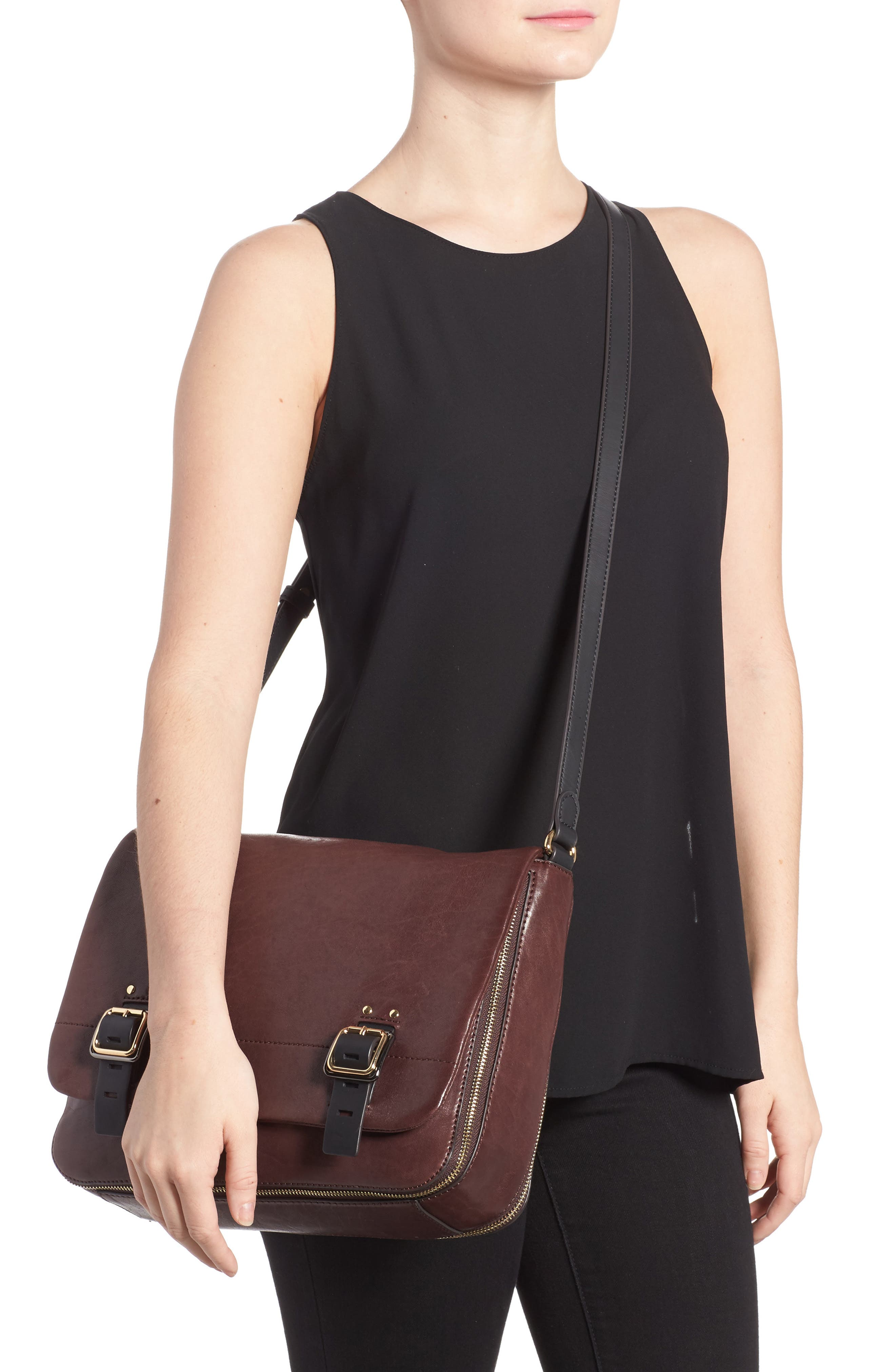 Alternate Image 2  - Vince Camuto Delos Leather Messenger Bag (Nordstrom Exclusive)