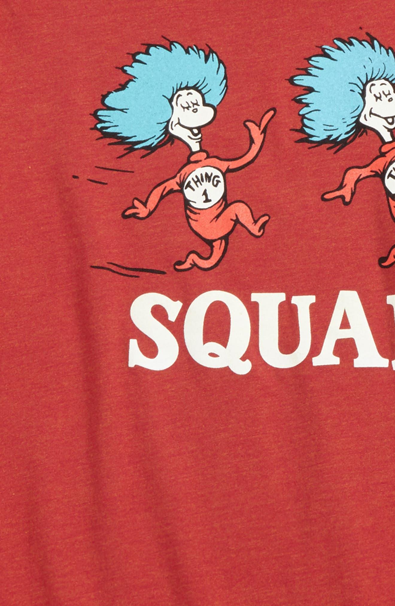 Dr. Seuss Squad Graphic T-Shirt,                             Alternate thumbnail 2, color,                             Red