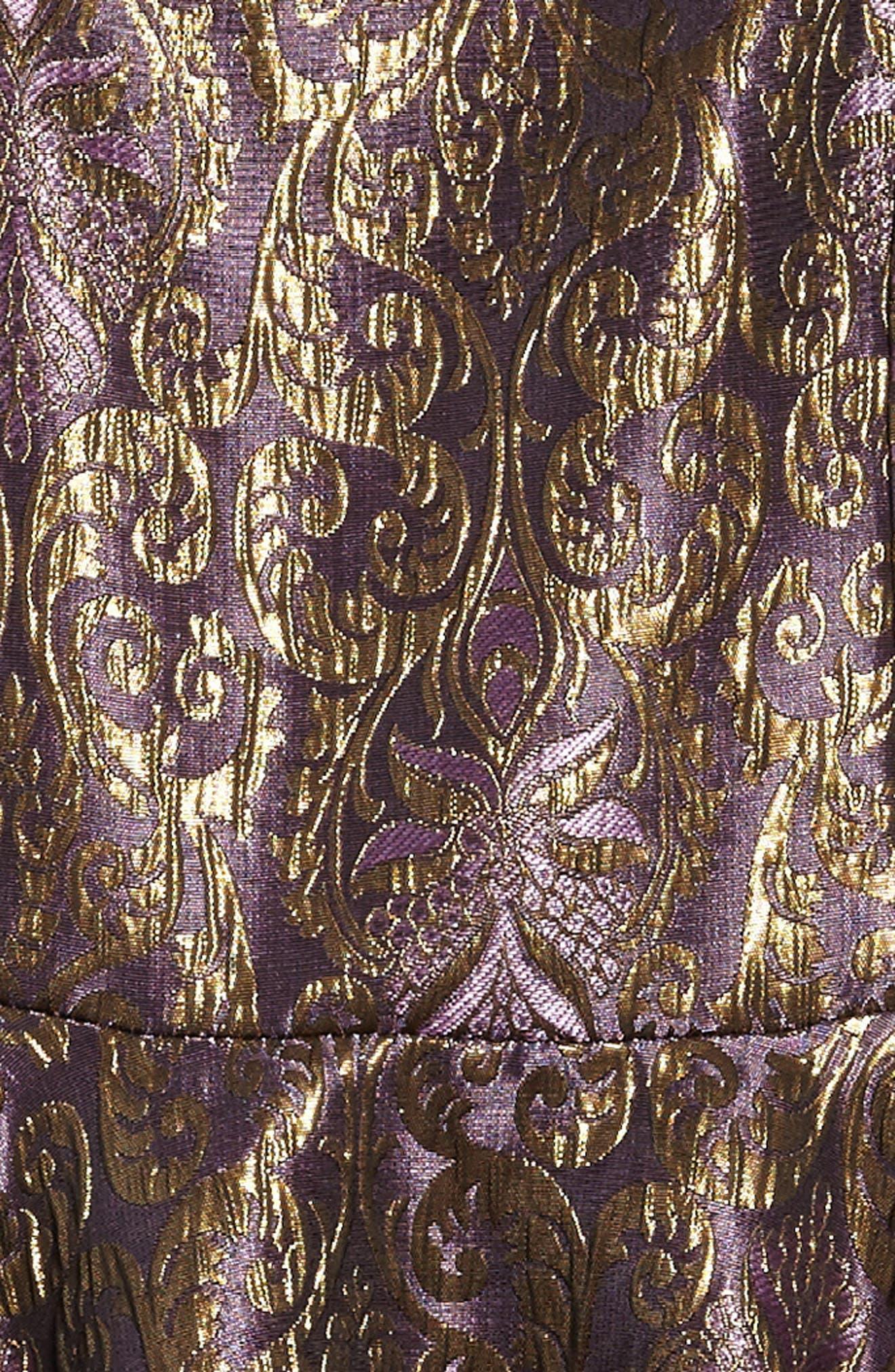 Alternate Image 3  - Un Deux Trois Jacquard Dress (Big Girls)