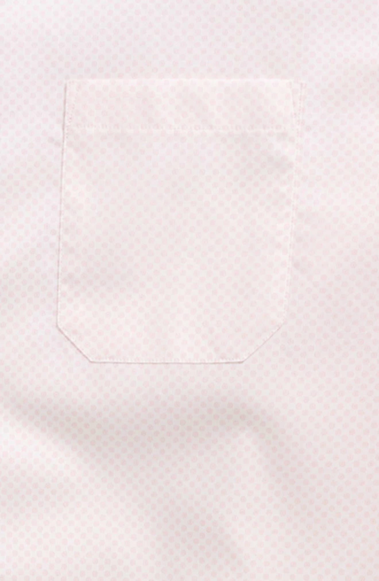 Dot Print Dress Shirt,                             Alternate thumbnail 2, color,                             Pink
