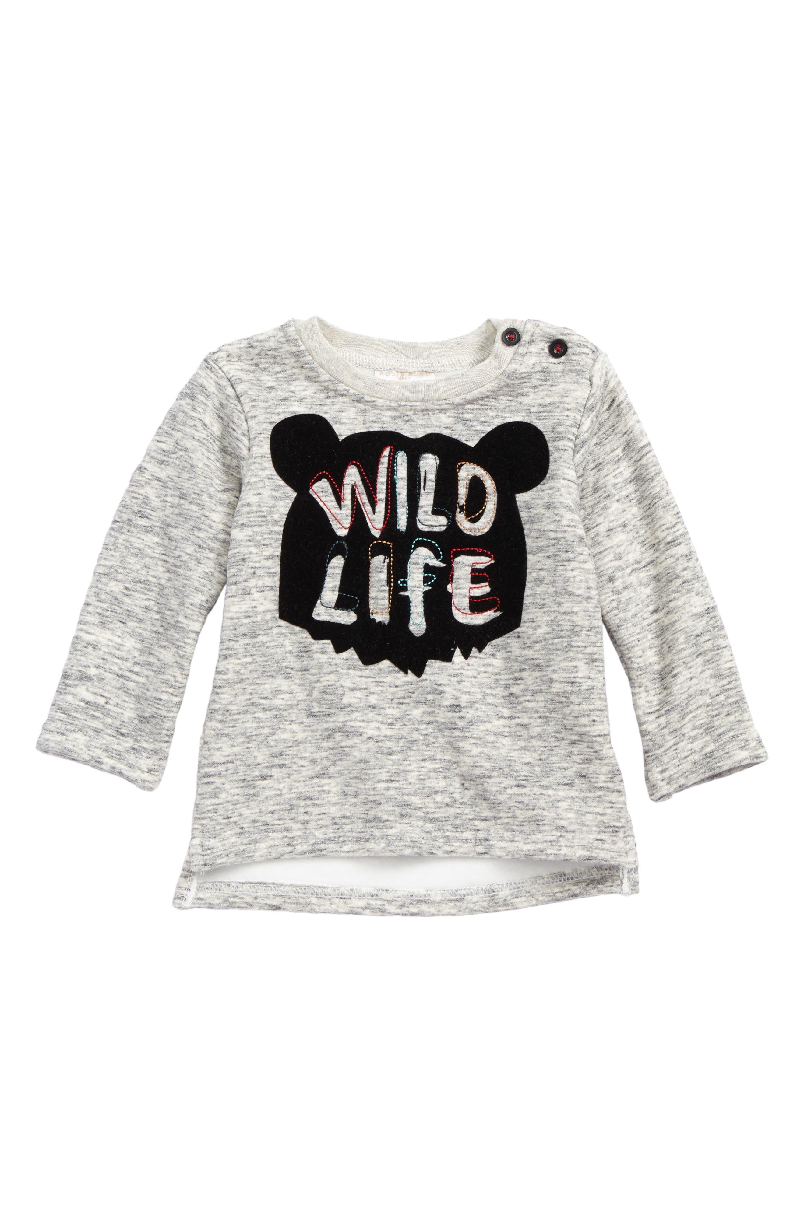 Alternate Image 1 Selected - Rosie Pope Wild Life Sweatshirt (Baby Boys)