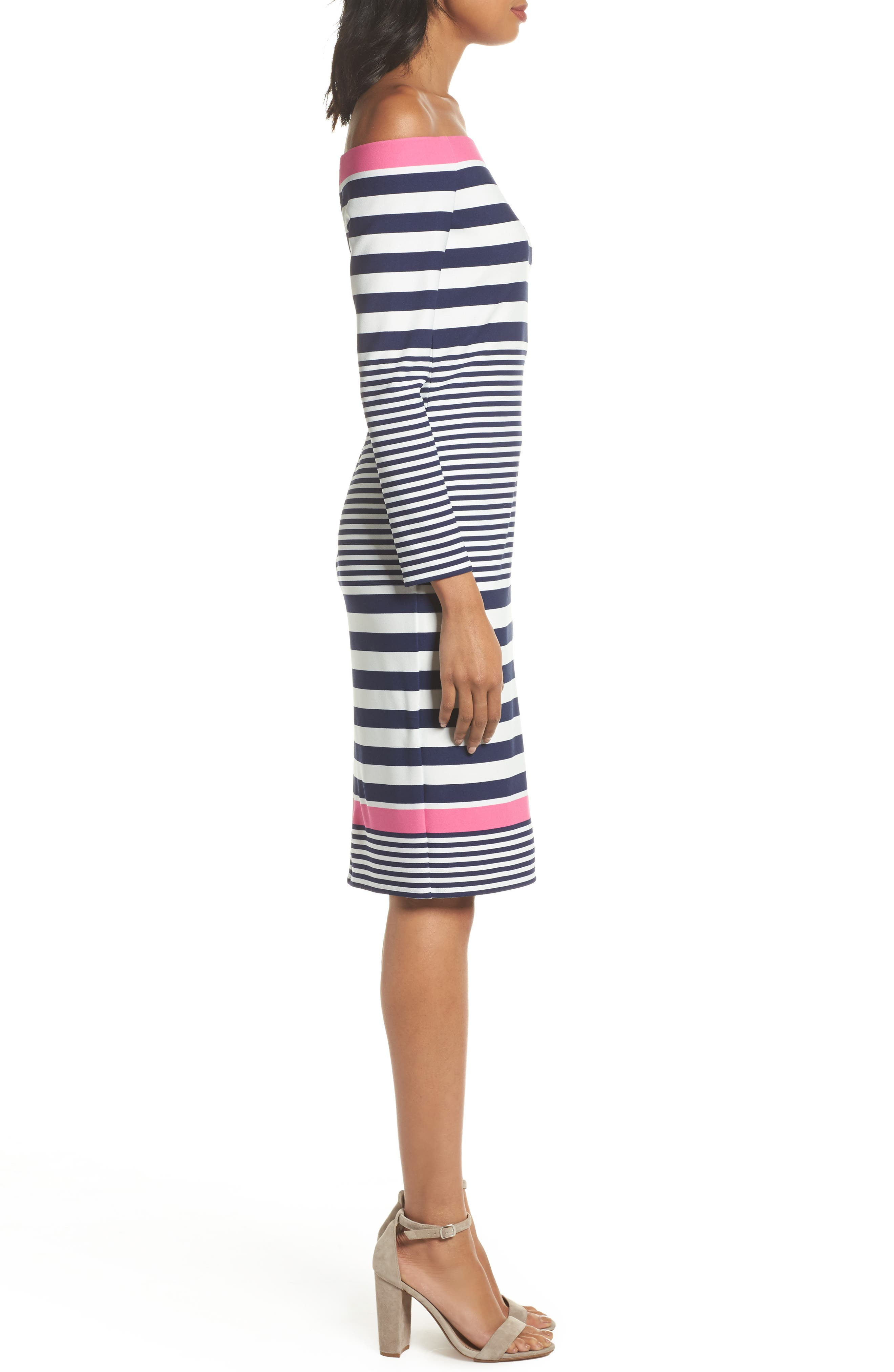 Alternate Image 3  - Eliza J Off the Shoulder Sheath Dress