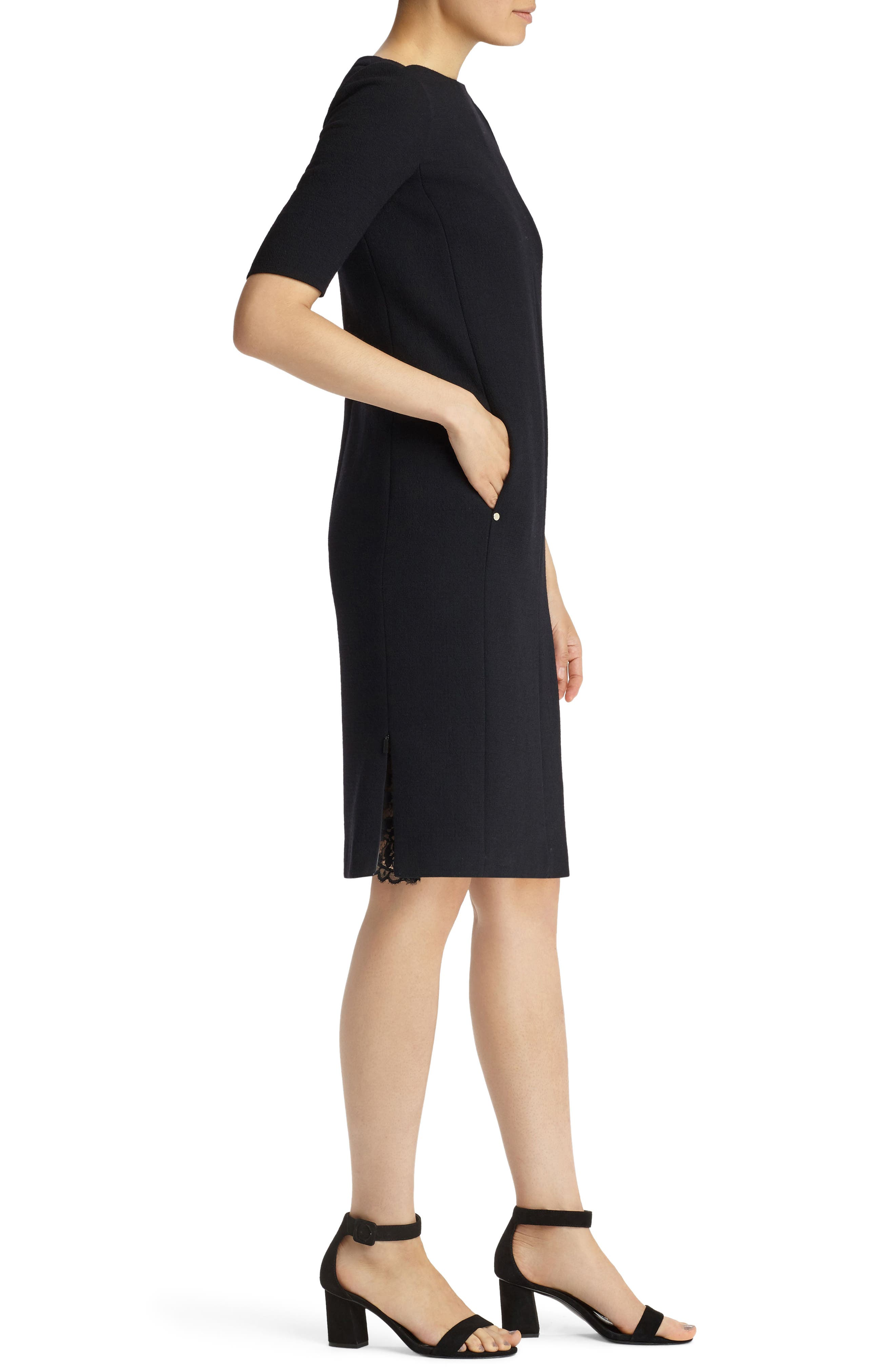 Alternate Image 3  - Lafayette 148 New York Cyra Shift Dress (Nordstrom Exclusive)