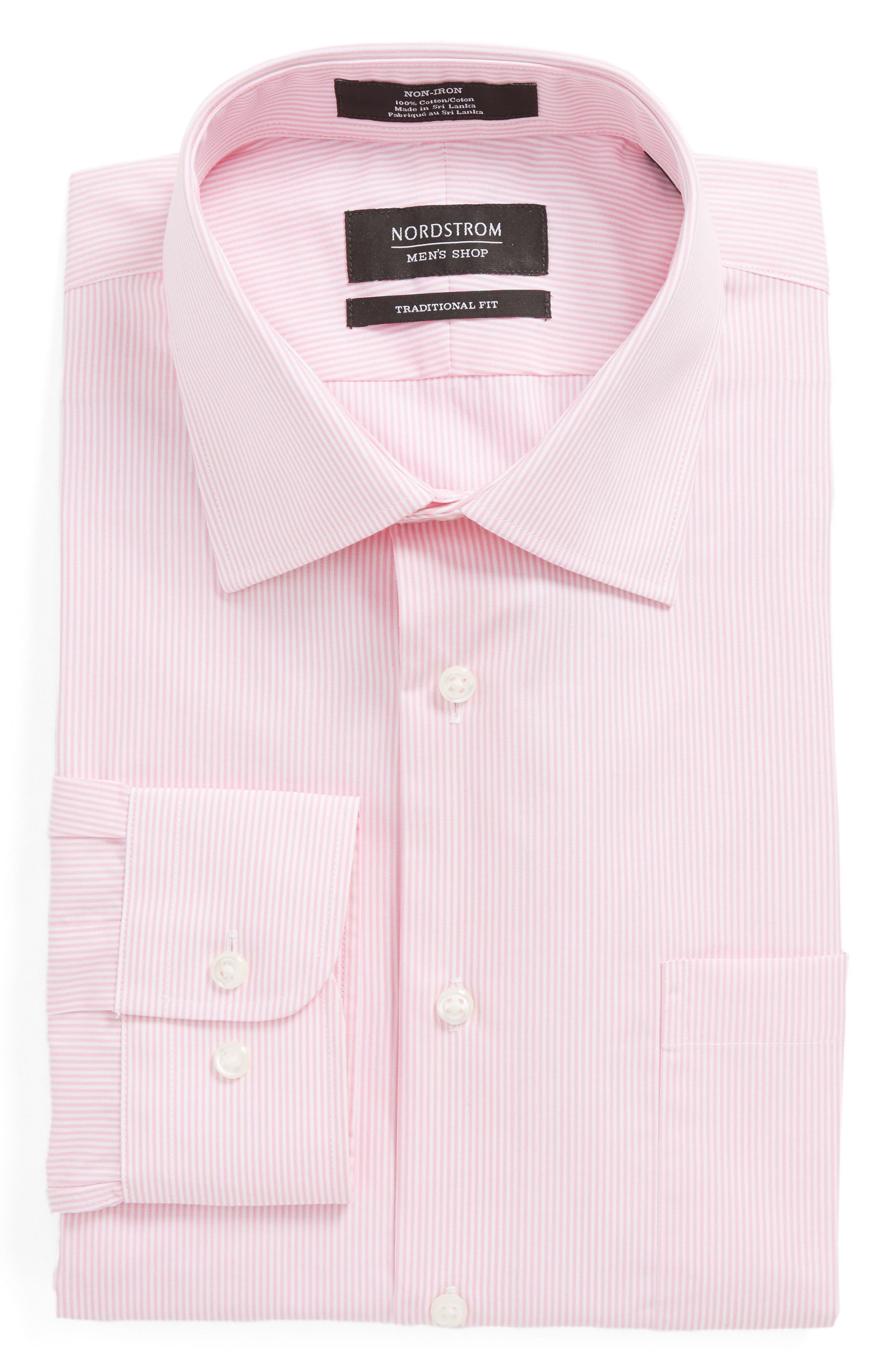 Alternate Image 6  - Nordstrom Men's Shop Smartcare™ Traditional Fit Stripe Dress Shirt