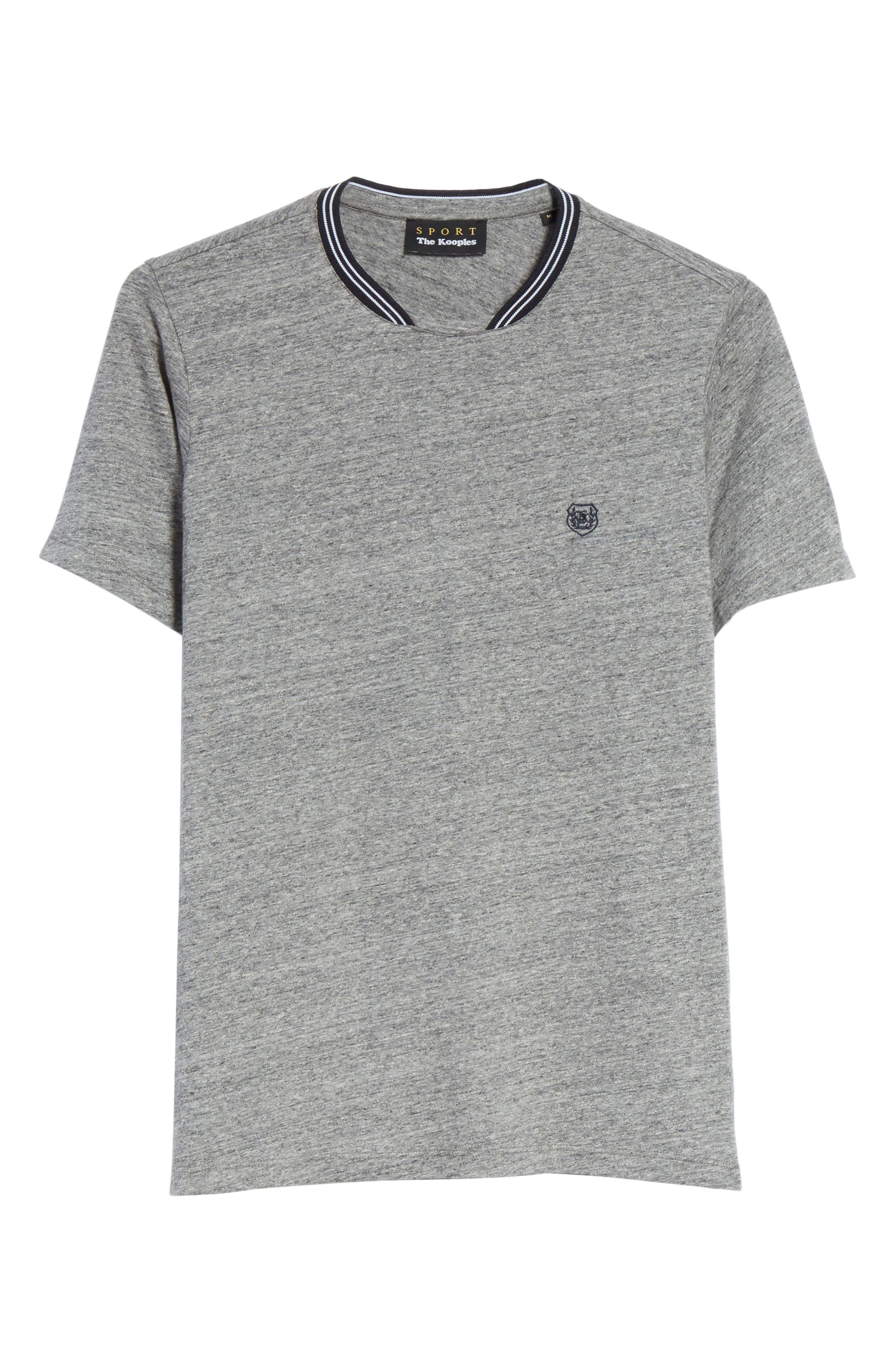 Ribbed Contrast T-Shirt,                             Alternate thumbnail 6, color,                             Grey