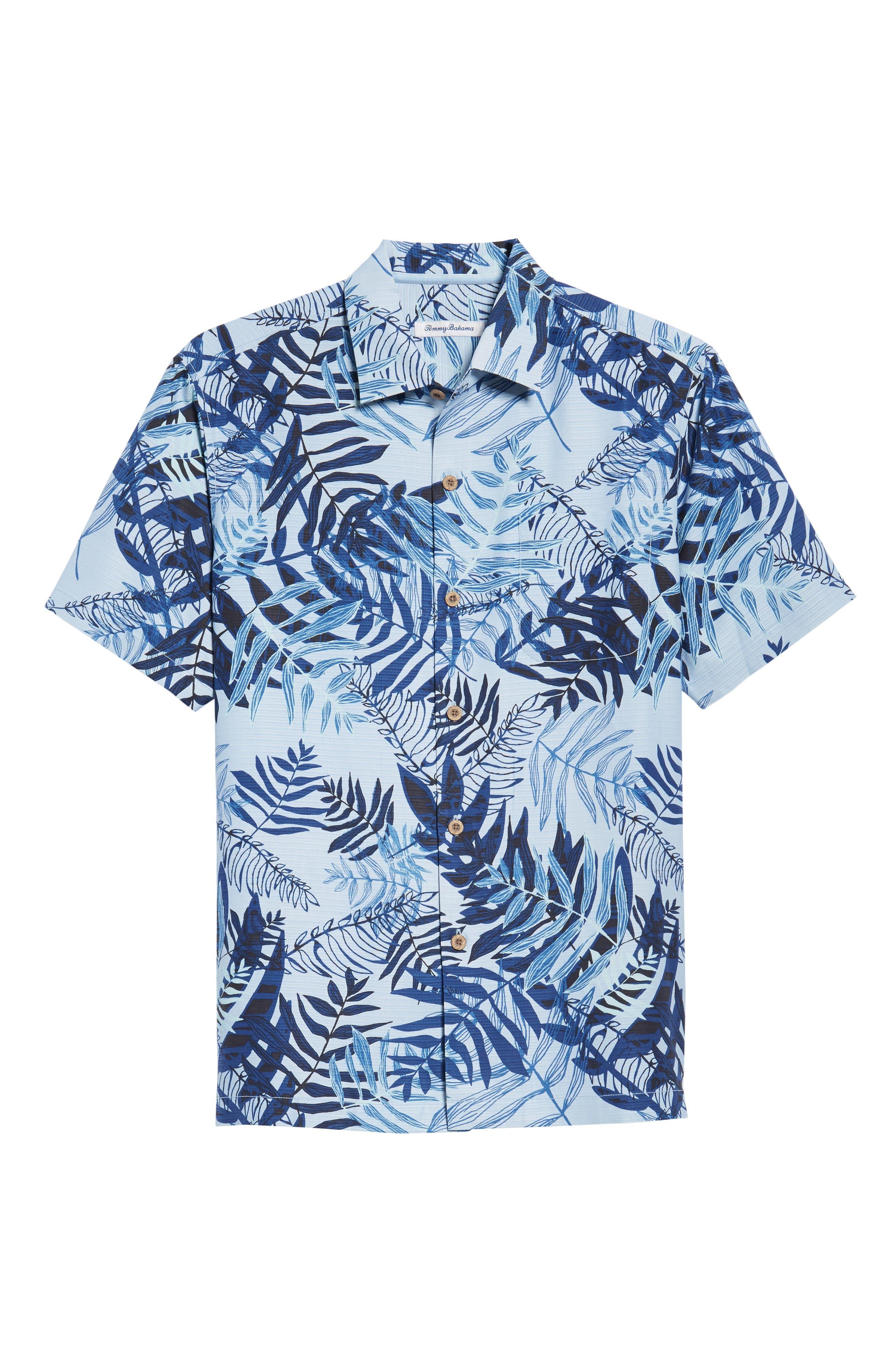 Glade Tropics Regular Fit Silk Sport Shirt,                             Alternate thumbnail 6, color,                             Fresh Air