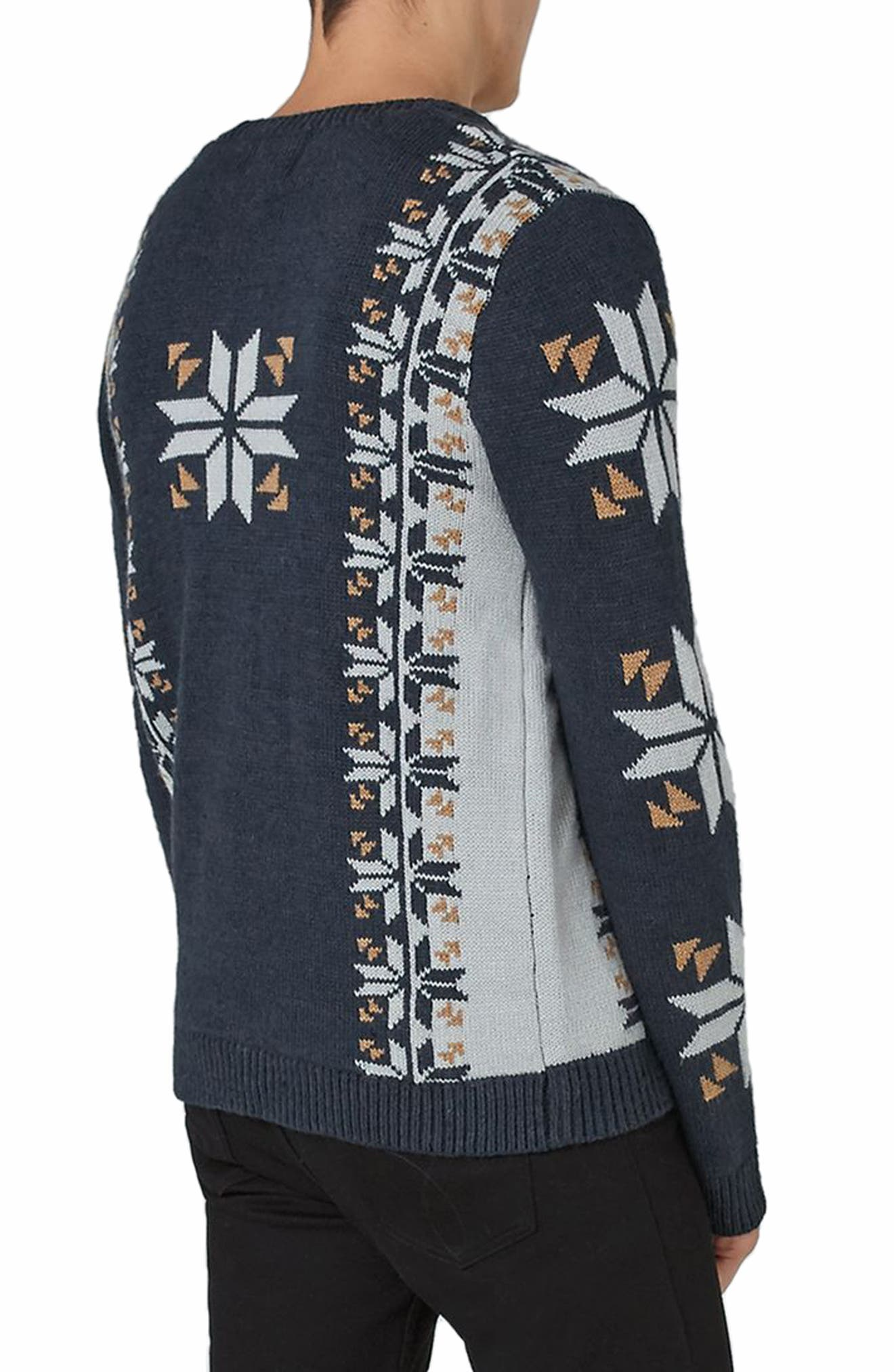 Vintage Stag Sweater,                             Alternate thumbnail 2, color,                             Navy Blue Multi