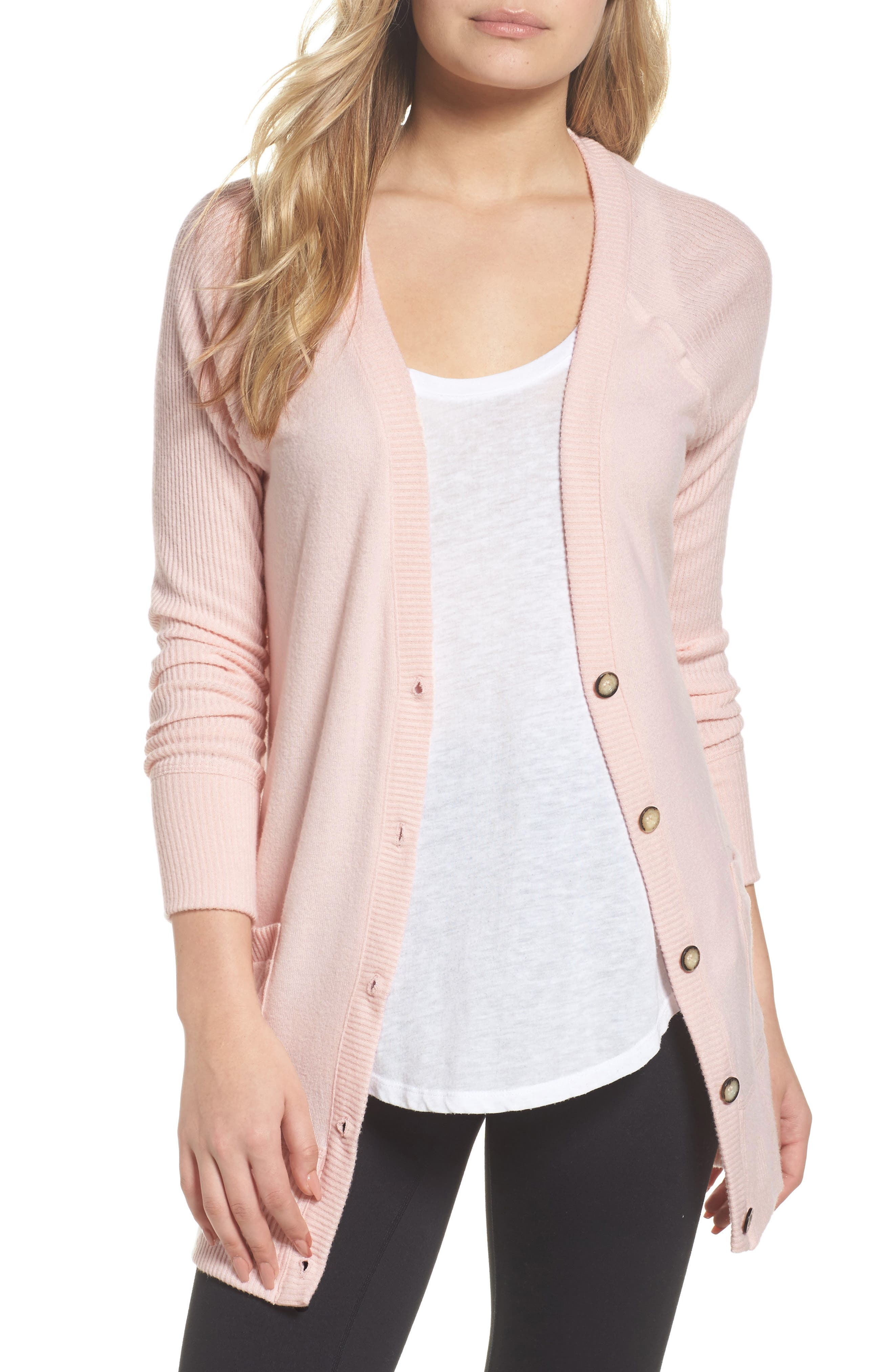 Hacci Cardigan,                         Main,                         color, Lotus Pink
