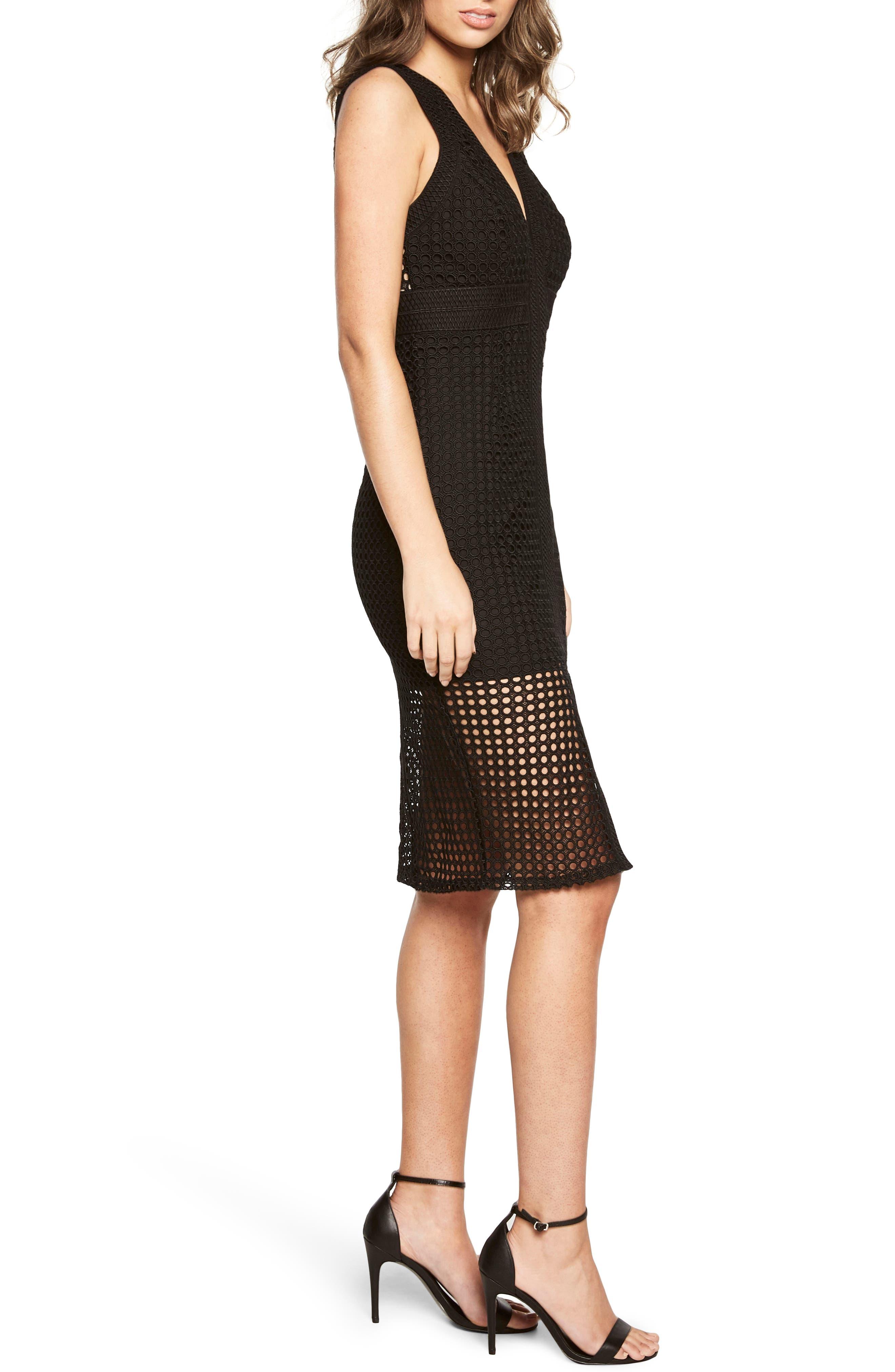 Alternate Image 3  - Bardot Layered Crochet Sheath Dress