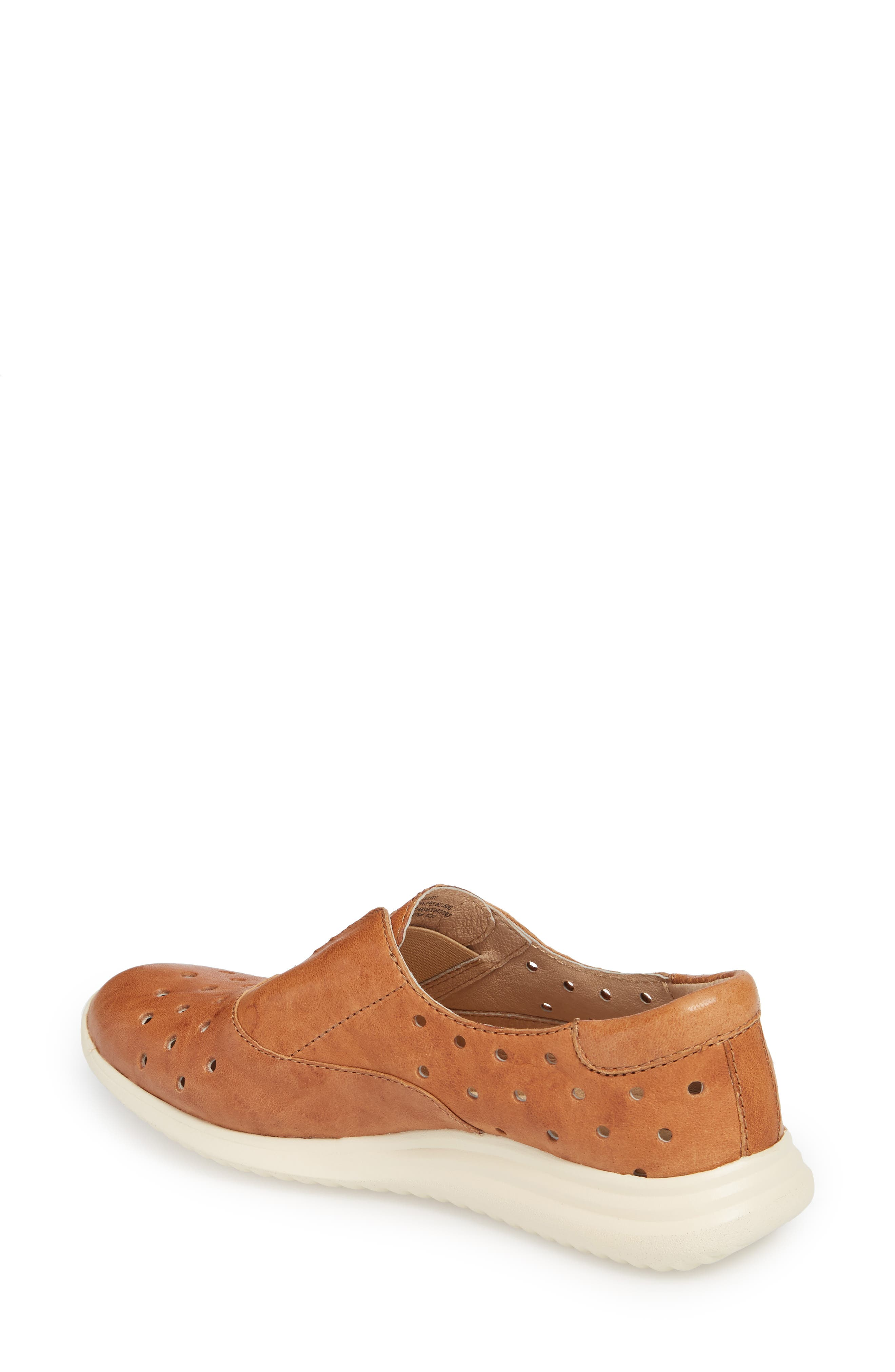 Noreen Slip-On Sneaker,                             Alternate thumbnail 2, color,                             Luggage Leather