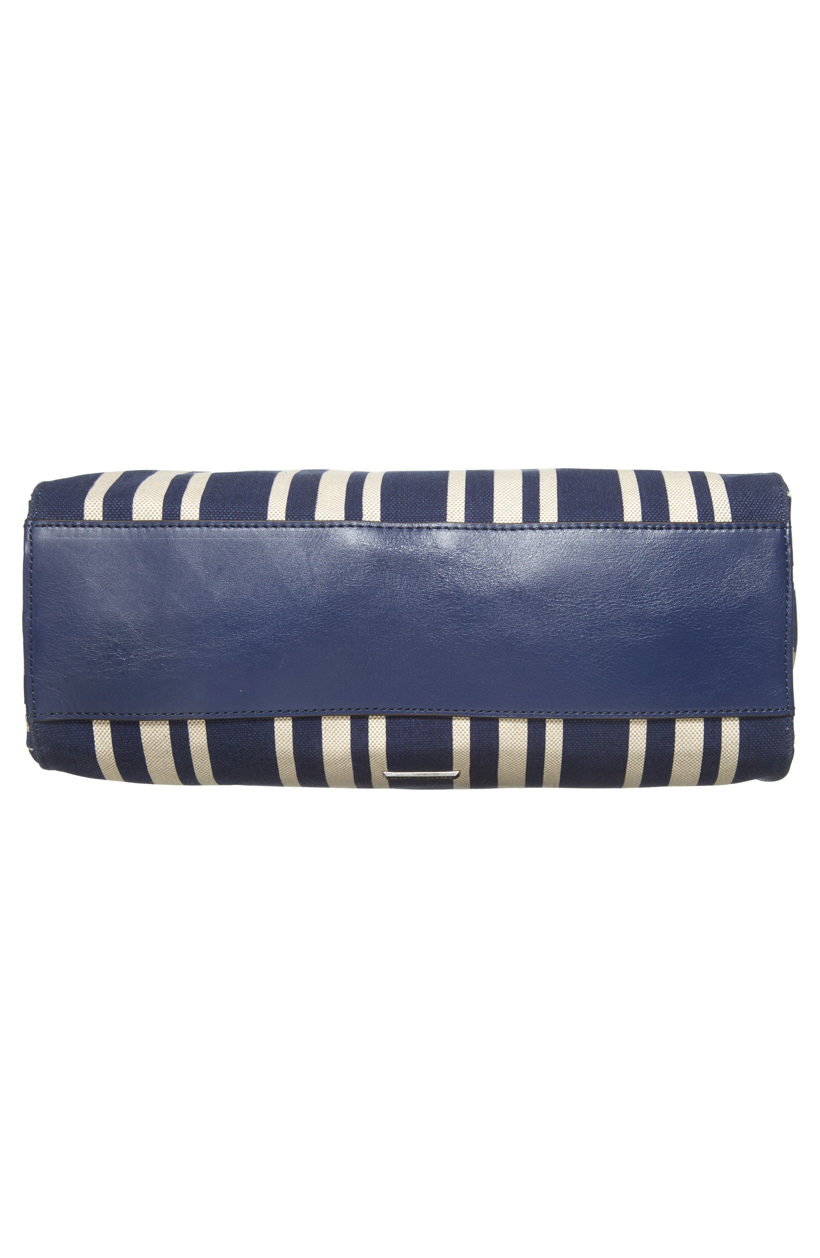 Darren Stripe Canvas Tote,                             Alternate thumbnail 7, color,                             Navy Stripe
