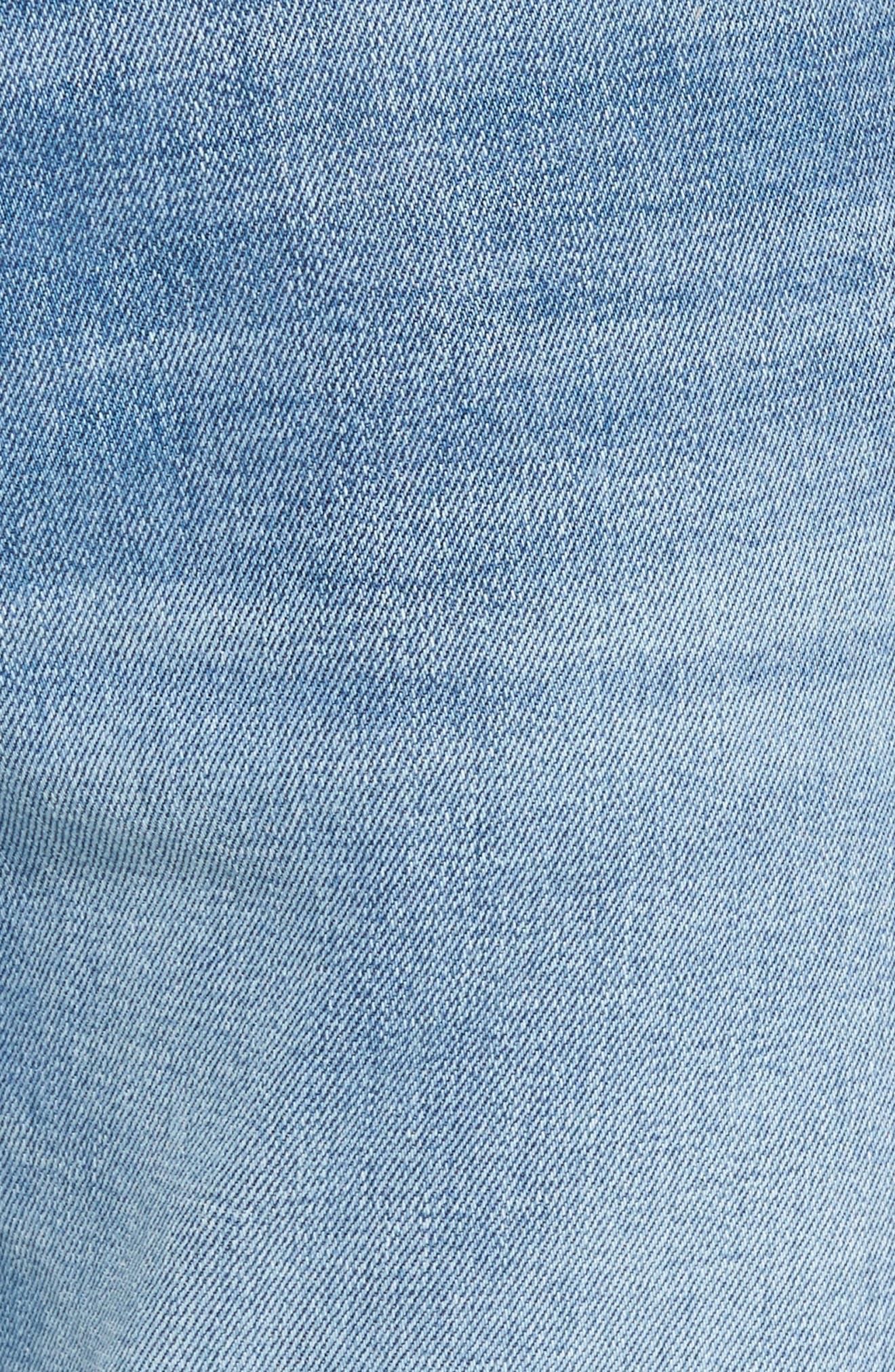 Alternate Image 5  - Vigoss Slim Straight Leg Jeans (Light Wash)