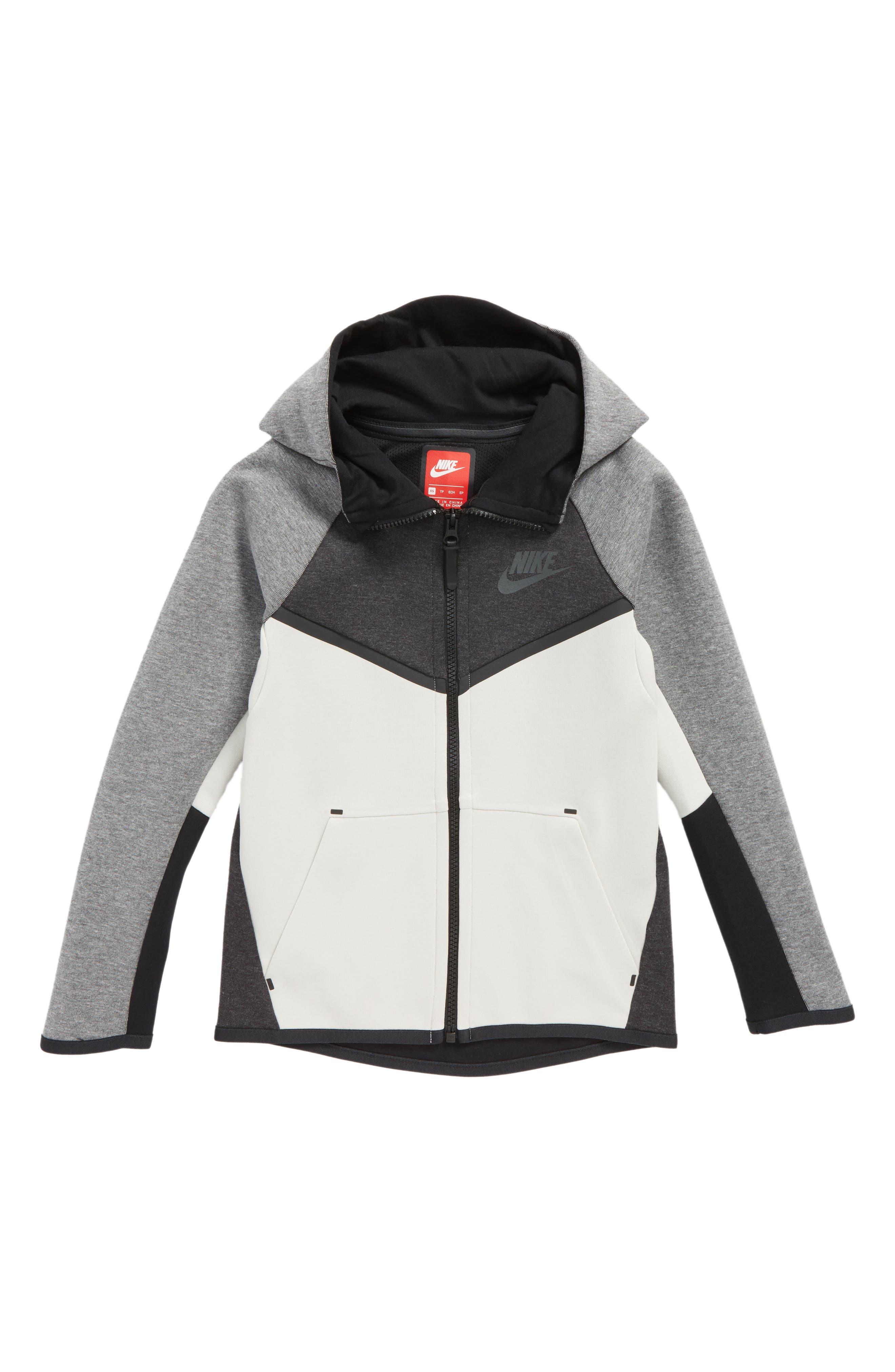 Sportswear Tech Windrunner Zip Hoodie,                         Main,                         color, Grey