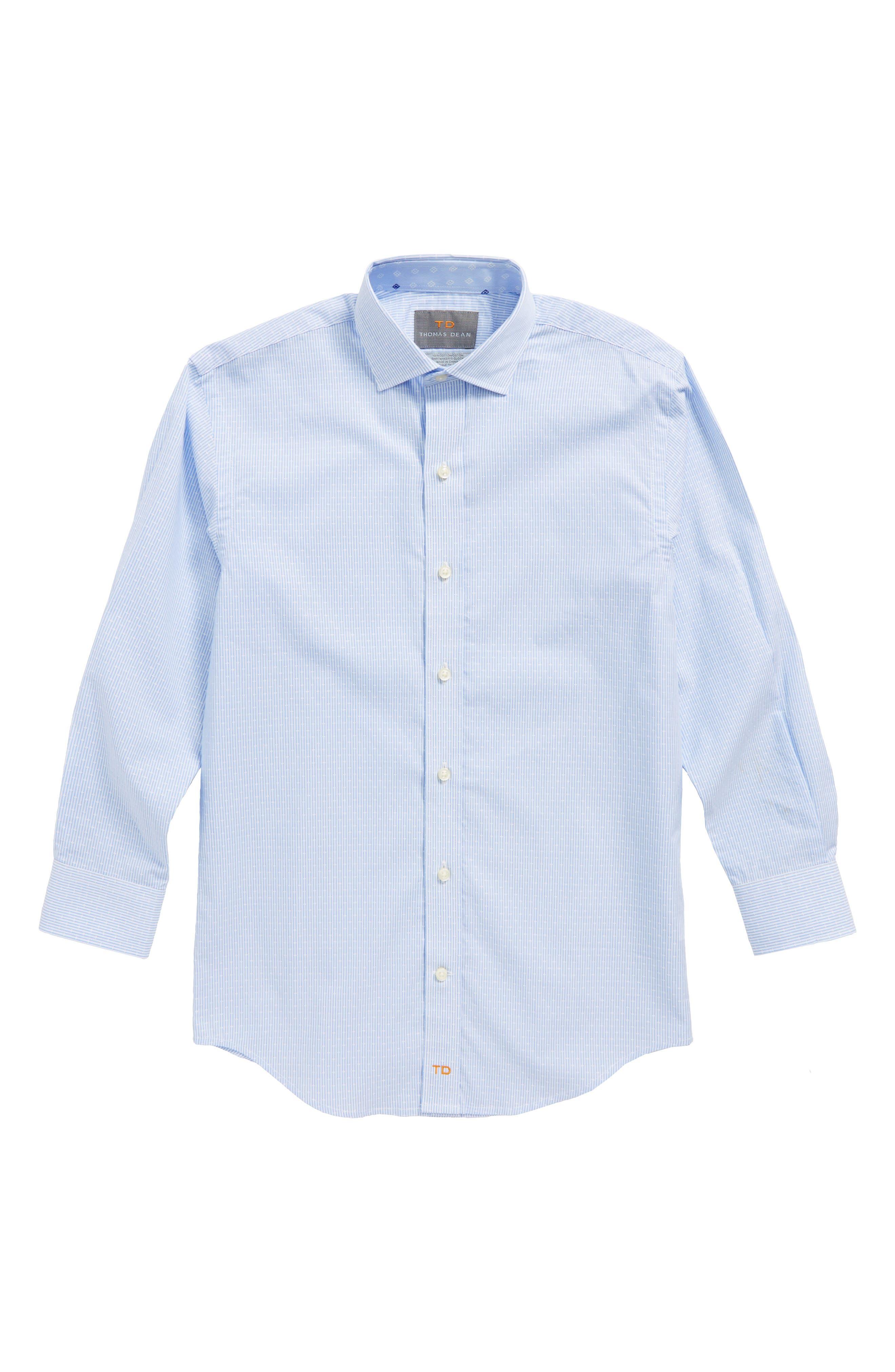 Stripe Dress Shirt,                         Main,                         color, Blue