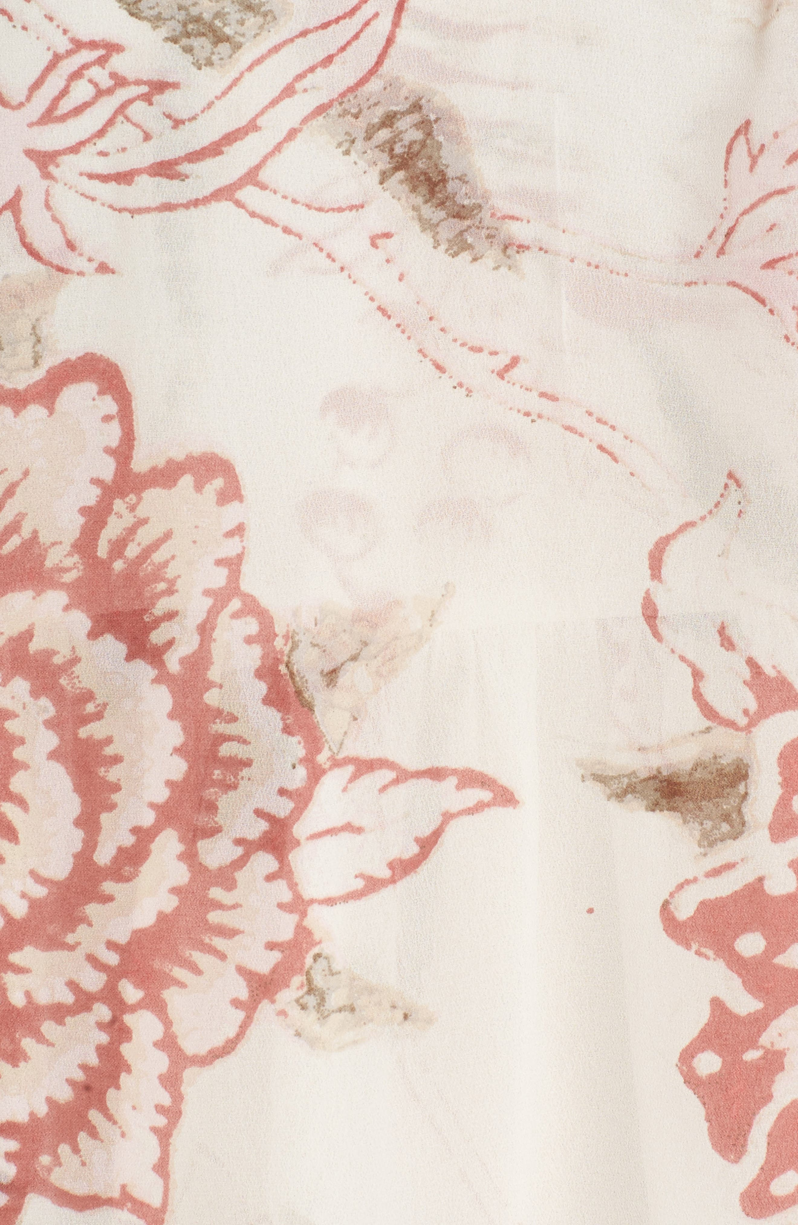 Alternate Image 5  - Lucky Brand Floral Print Ruffle Hem Blouse