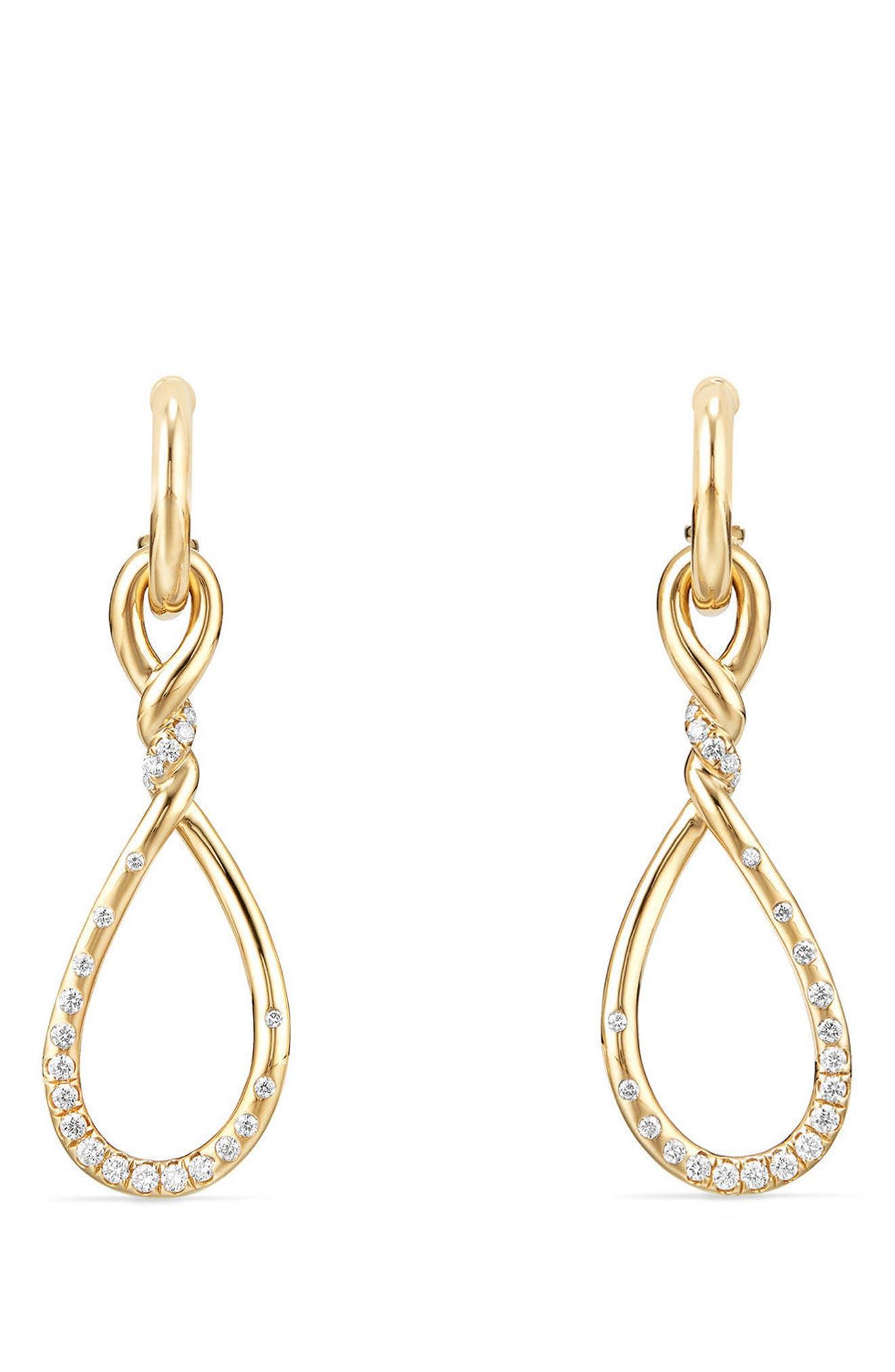 Main Image - David Yurman Continuance Medium Drop Earrings with Diamonds in 18K Gold