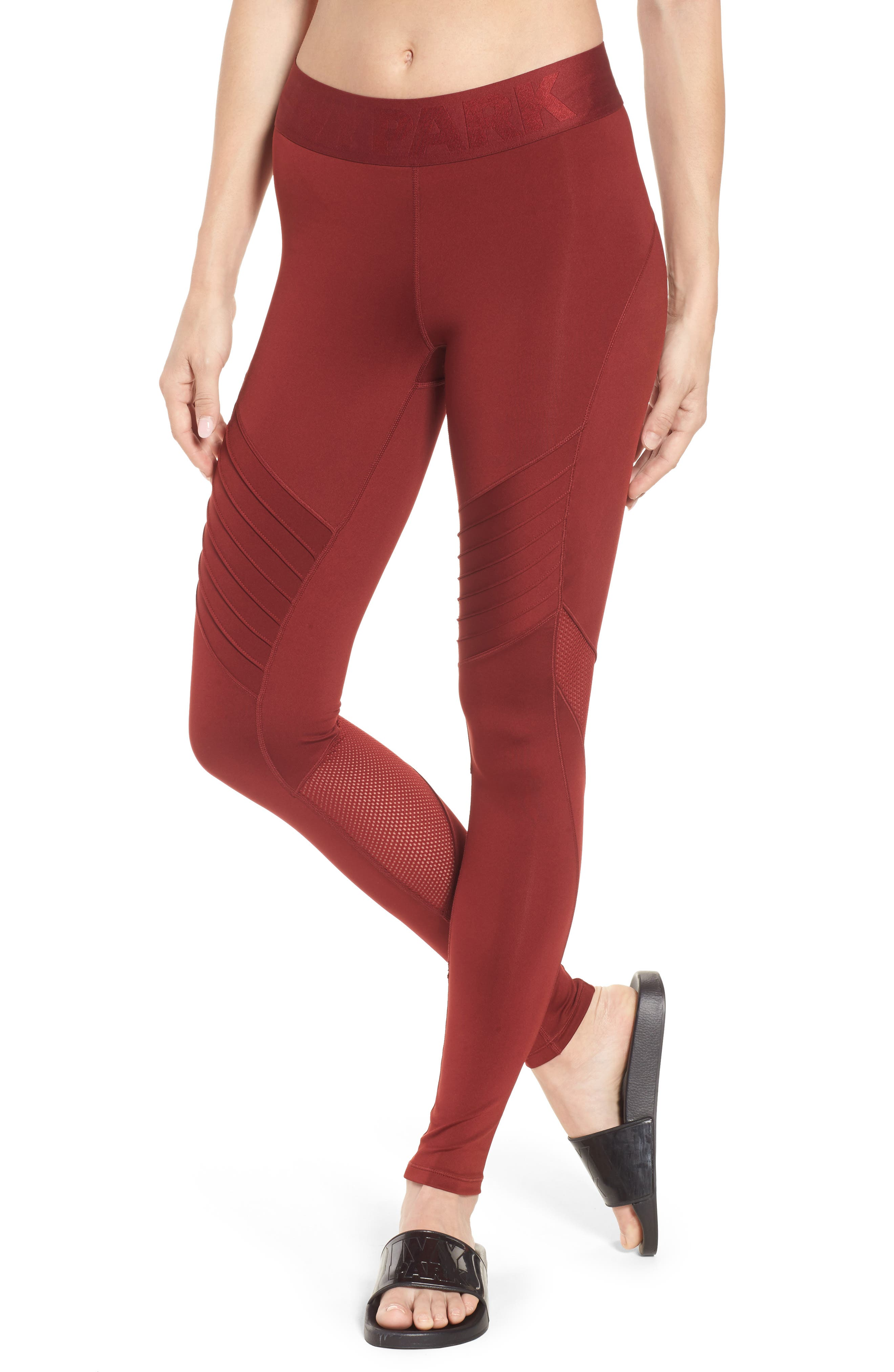 Pintuck Leggings,                         Main,                         color, Russet